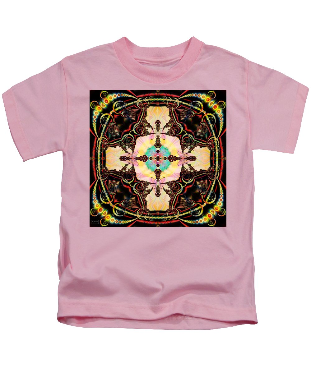 Abstract Kids T-Shirt featuring the digital art A Far Cry by Jim Pavelle