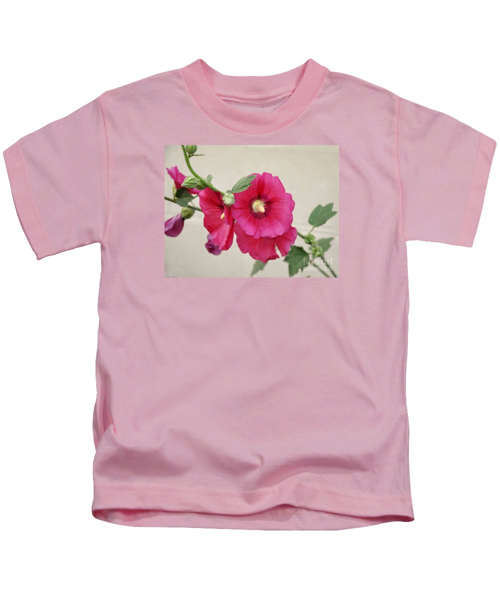 Flowers Kids T-Shirt featuring the photograph A Gentle Bloom by Reb Frost
