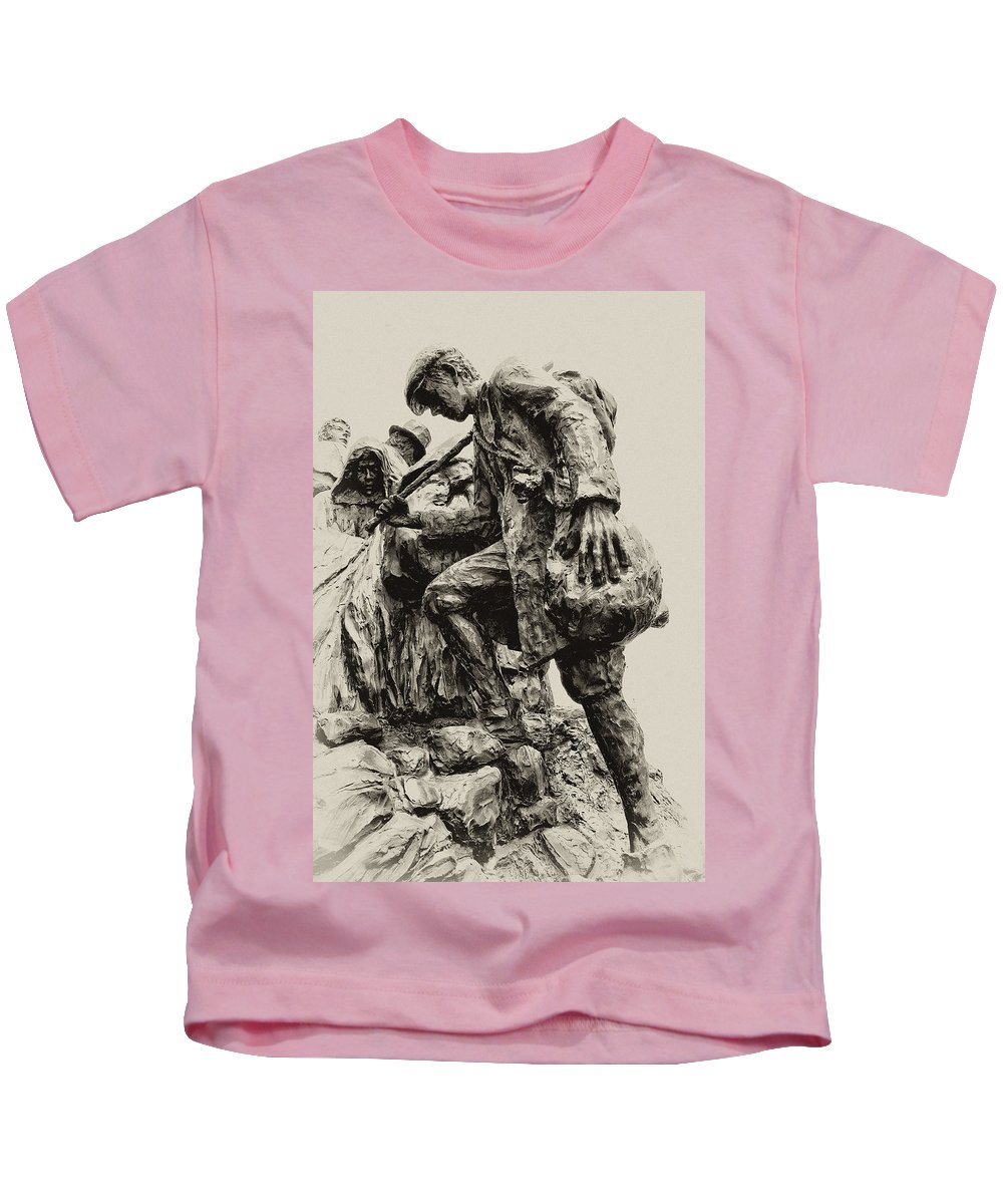 Philadelphia Kids T-Shirt featuring the photograph A Long Way To The Top by Bill Cannon