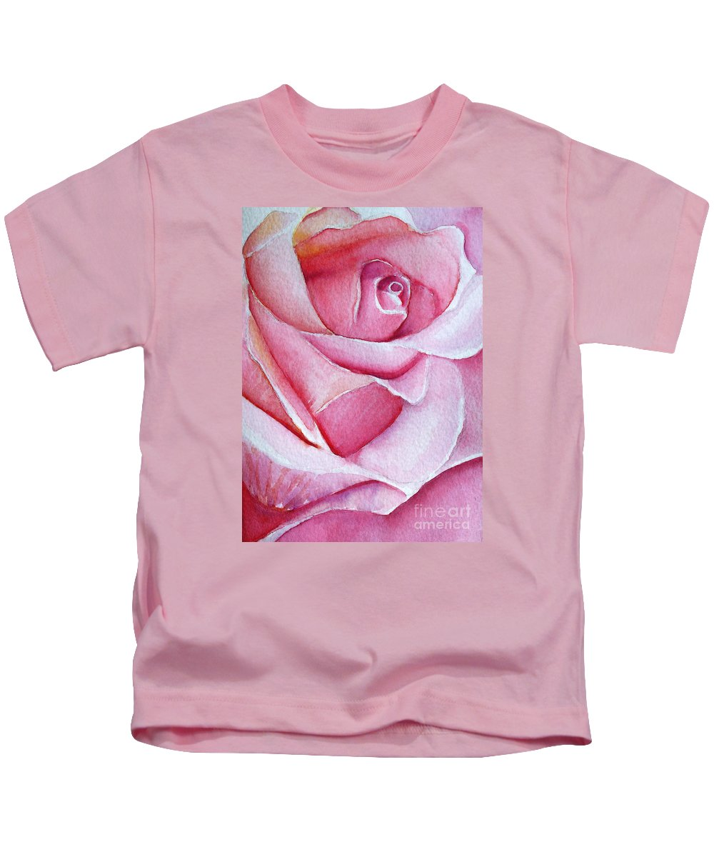 Rose Kids T-Shirt featuring the painting A Rose For You by Allison Ashton