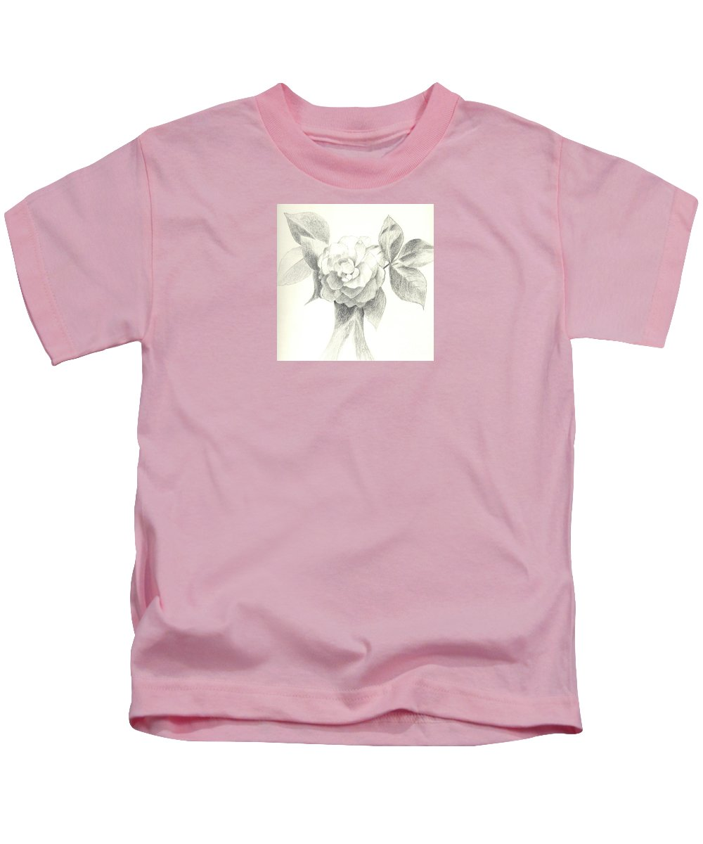 Rose Kids T-Shirt featuring the drawing Abracadabra by Helena Tiainen