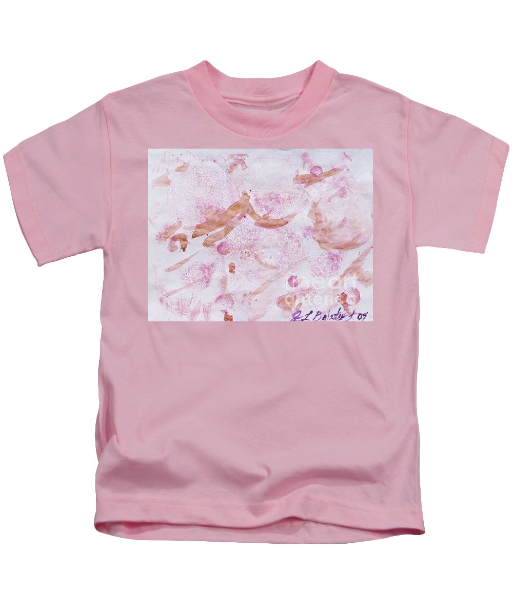 Organic Kids T-Shirt featuring the painting Abstract- Vegetable Beet Print by Jamey Balester