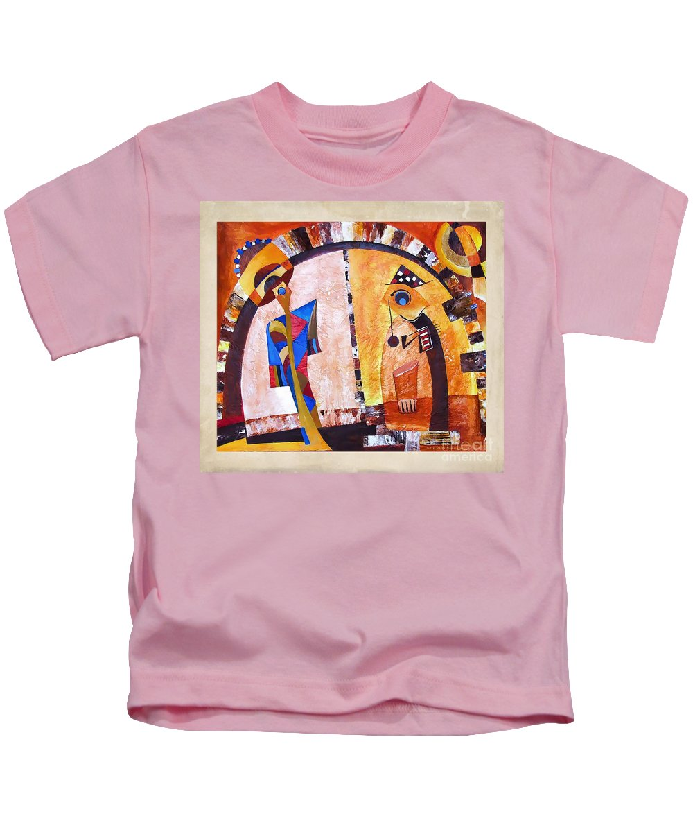 Abstraction Kids T-Shirt featuring the digital art Abstraction 3219 by Marek Lutek
