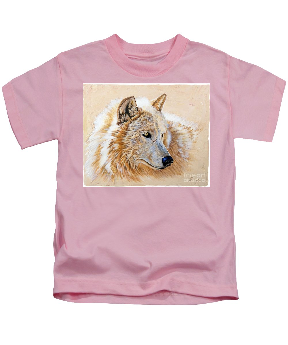 Acrylic Kids T-Shirt featuring the painting Adobe White by Sandi Baker