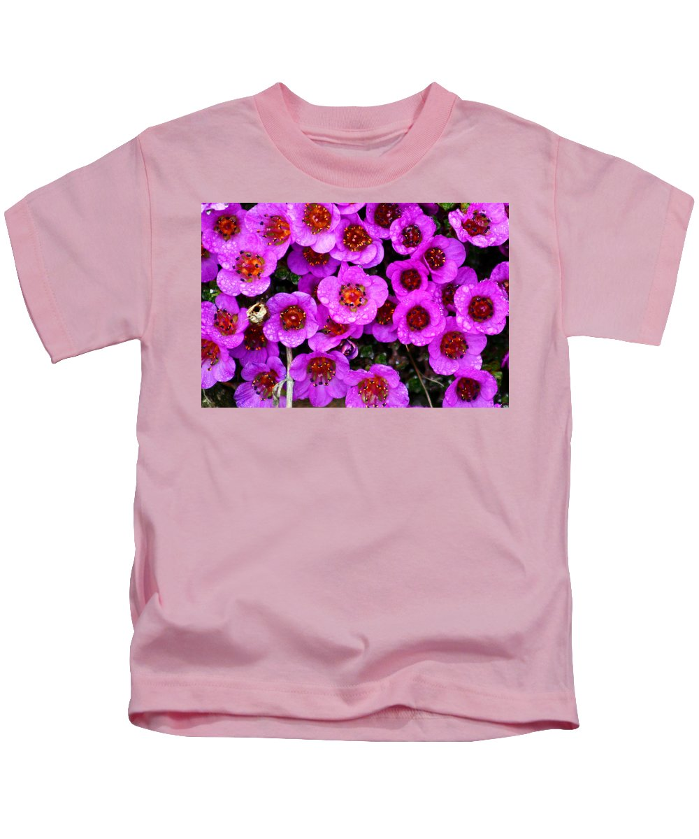 Flowers. Wild Flowers Kids T-Shirt featuring the photograph Alaskan Wild Flowers by Anthony Jones