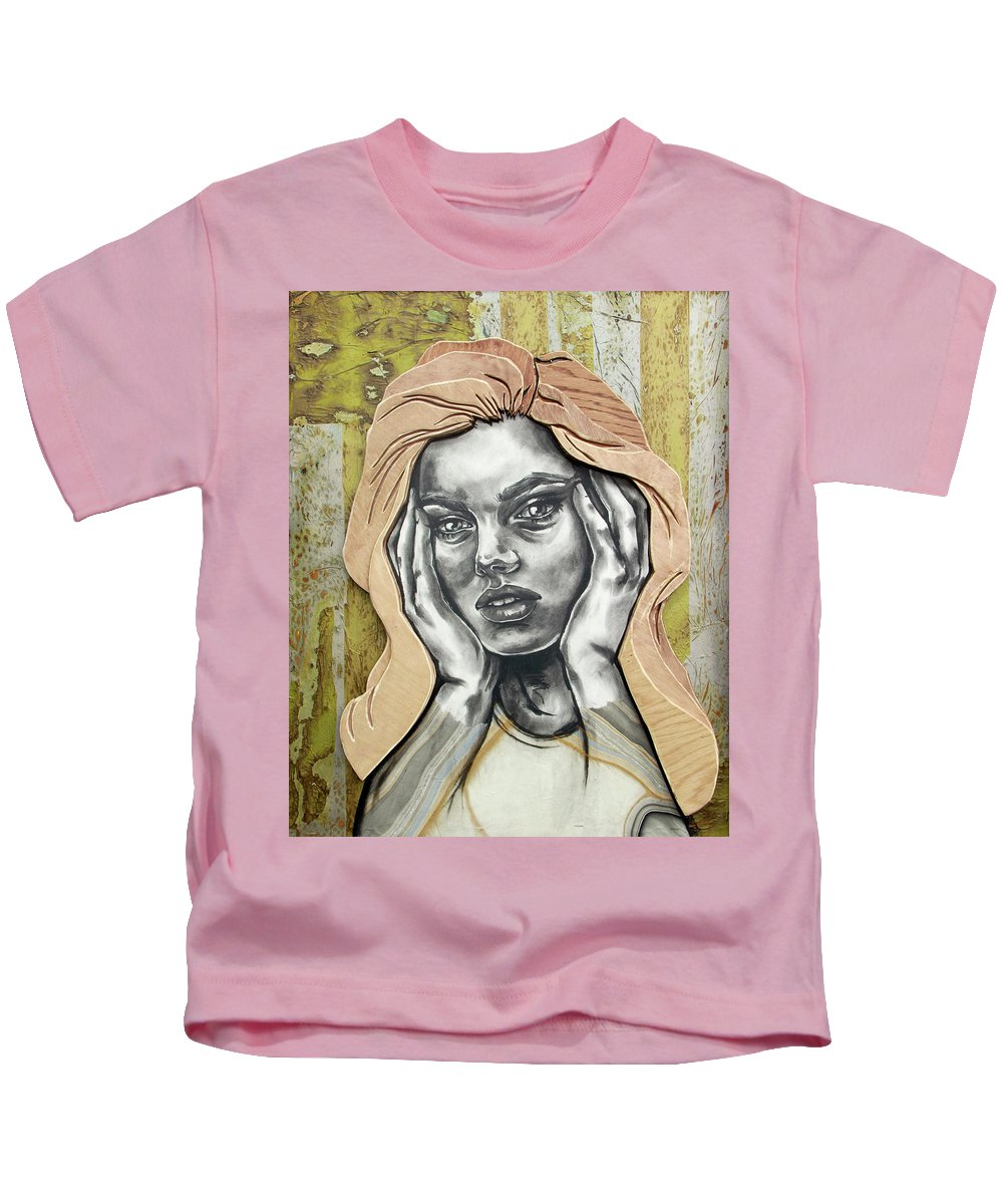 Street Art Kids T-Shirt featuring the painting All That Glitters Is Cold by Bobby Zeik