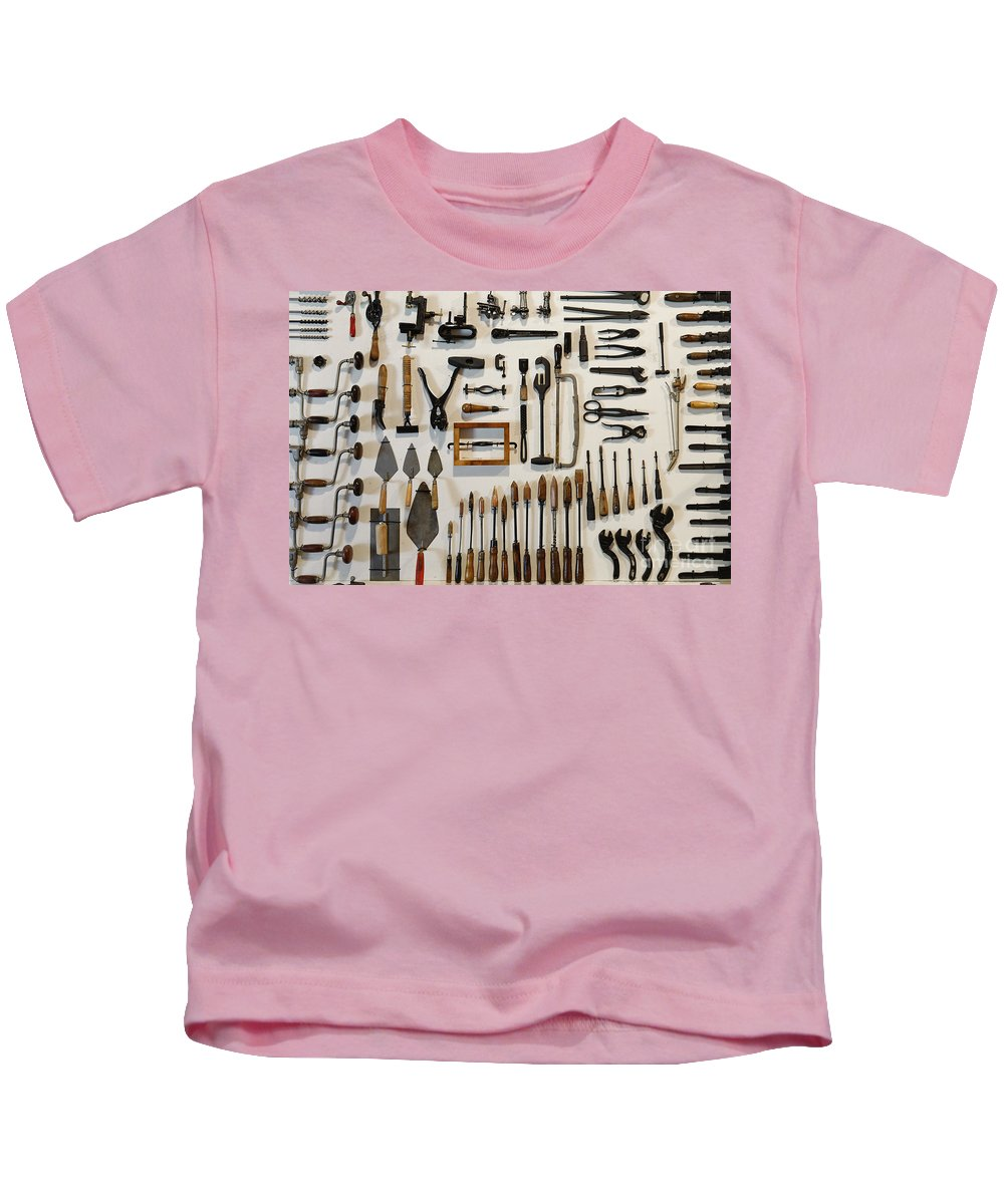 Jobs Kids T-Shirt featuring the photograph Antique Tools by John Greim