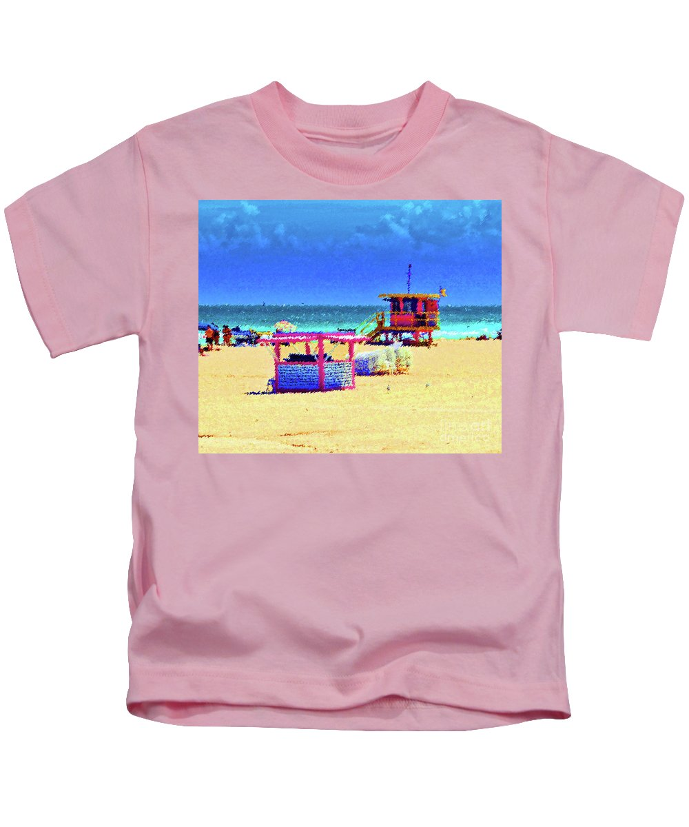 Beach Kids T-Shirt featuring the photograph At The Beach by Jost Houk