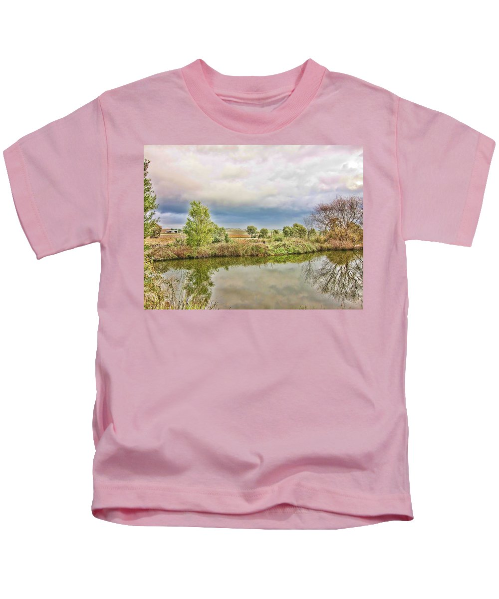 River Kids T-Shirt featuring the photograph At The Waters Edge by Douglas Barnard