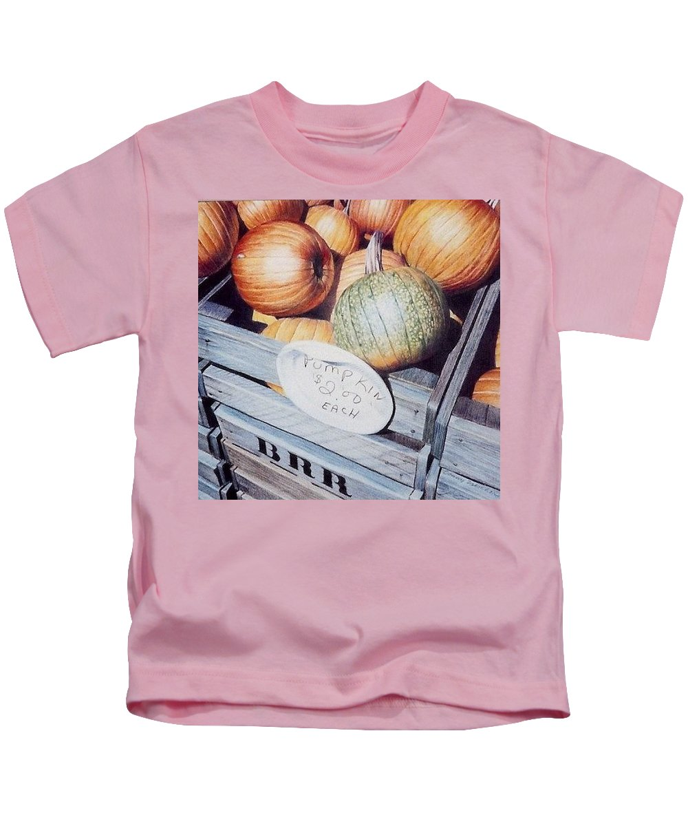 Orange Kids T-Shirt featuring the painting Autumn by Constance Drescher