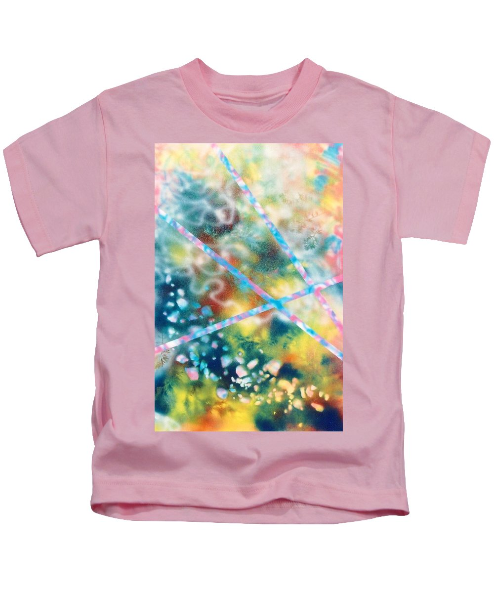Abstract Kids T-Shirt featuring the painting Autumn by Micah Guenther