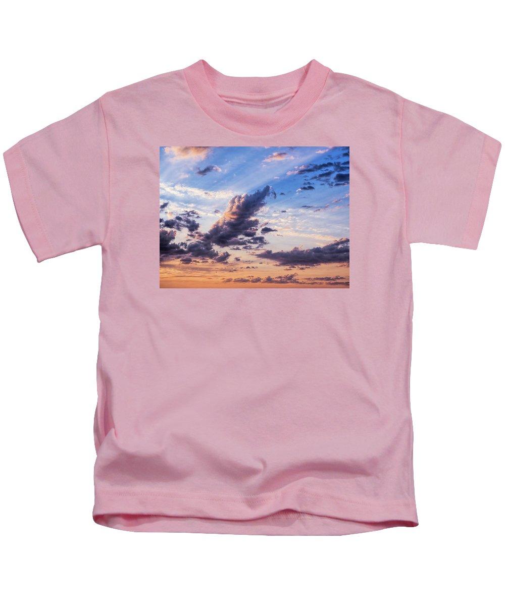 Clouds Kids T-Shirt featuring the photograph Autumn Sunrise 2 - Lyme Regis by Susie Peek