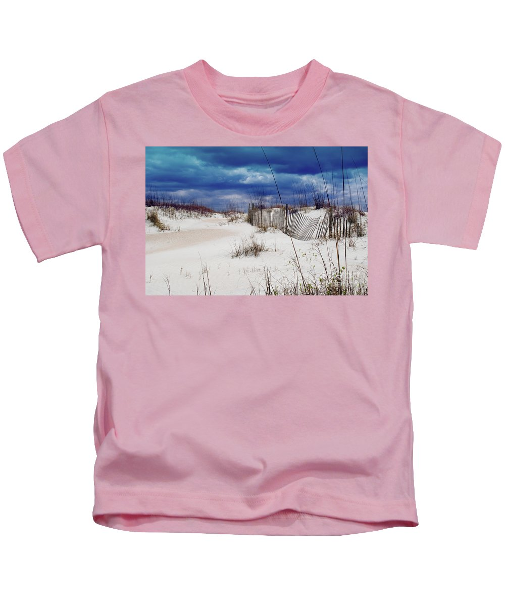 Beach Kids T-Shirt featuring the photograph Beach Storm by Jost Houk