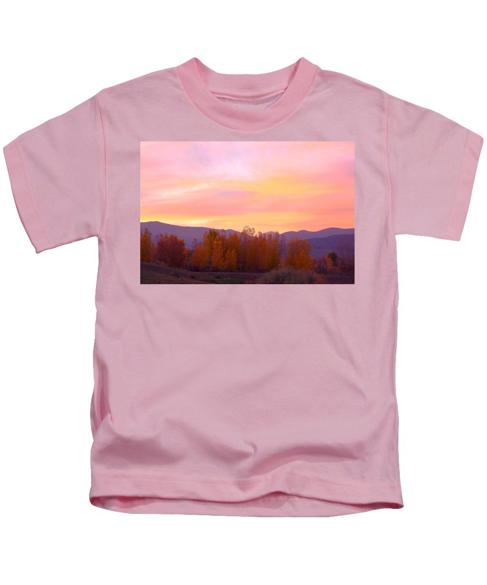 Sunsets Kids T-Shirt featuring the photograph Beautiful Autumn Sunset by James BO Insogna