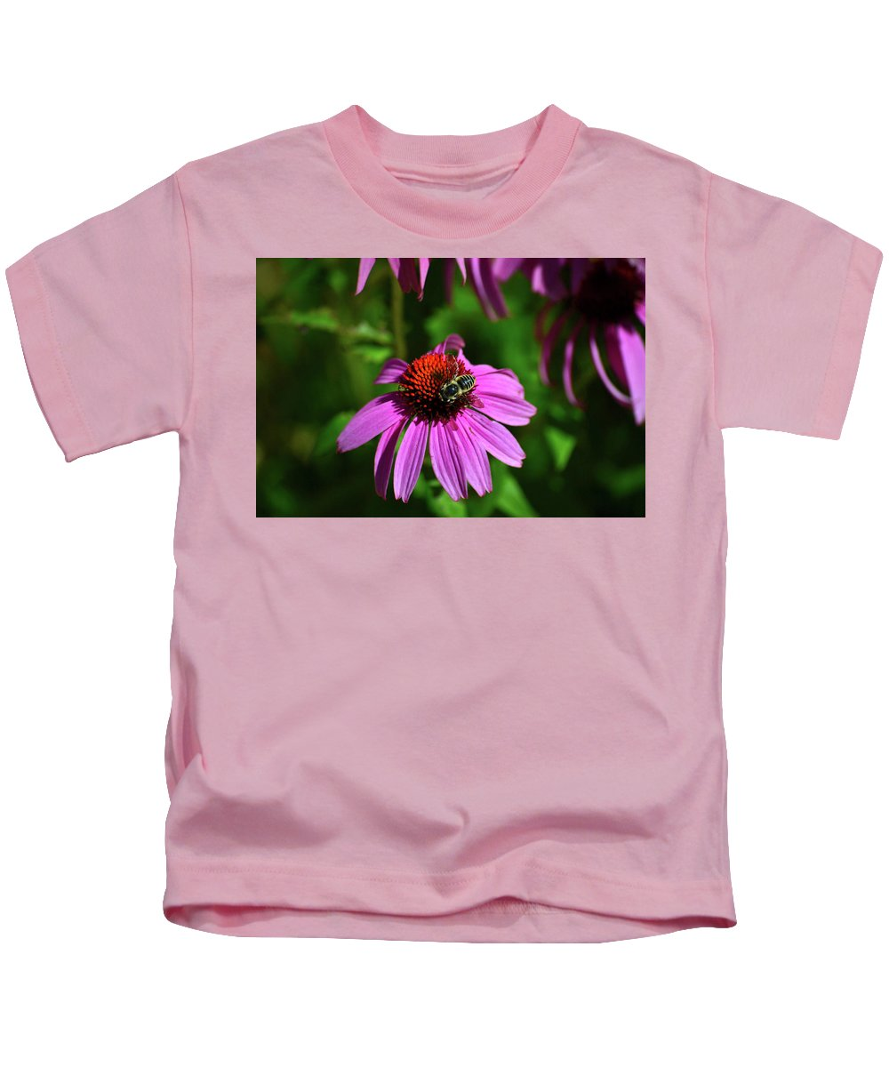 Bee Kids T-Shirt featuring the photograph Bee Taking A Rest by Krista Russell