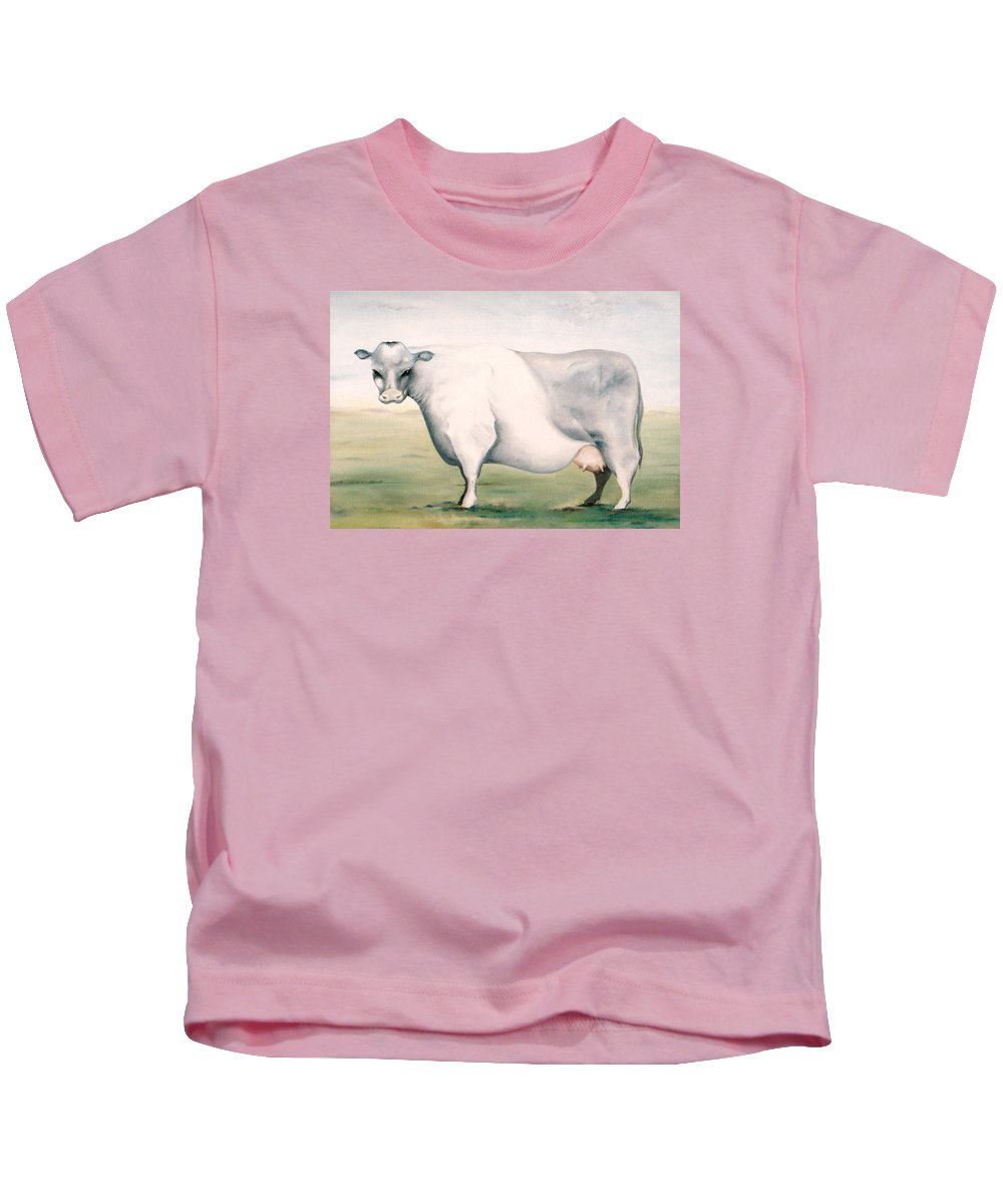 Beef Kids T-Shirt featuring the painting Beef Holocaust I by Mark Cawood