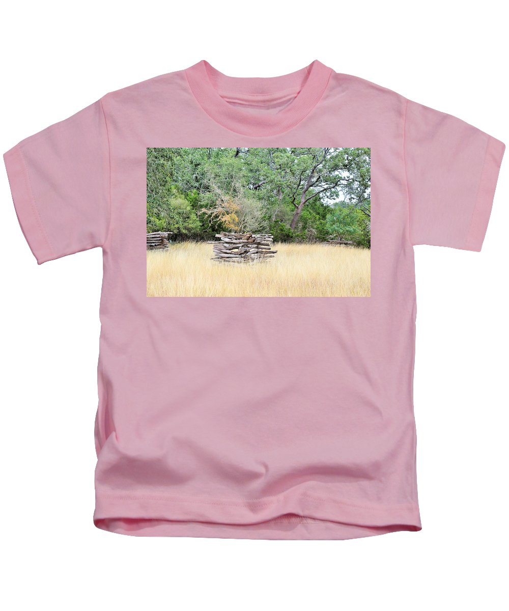Kids T-Shirt featuring the photograph Bench by Jeff Downs