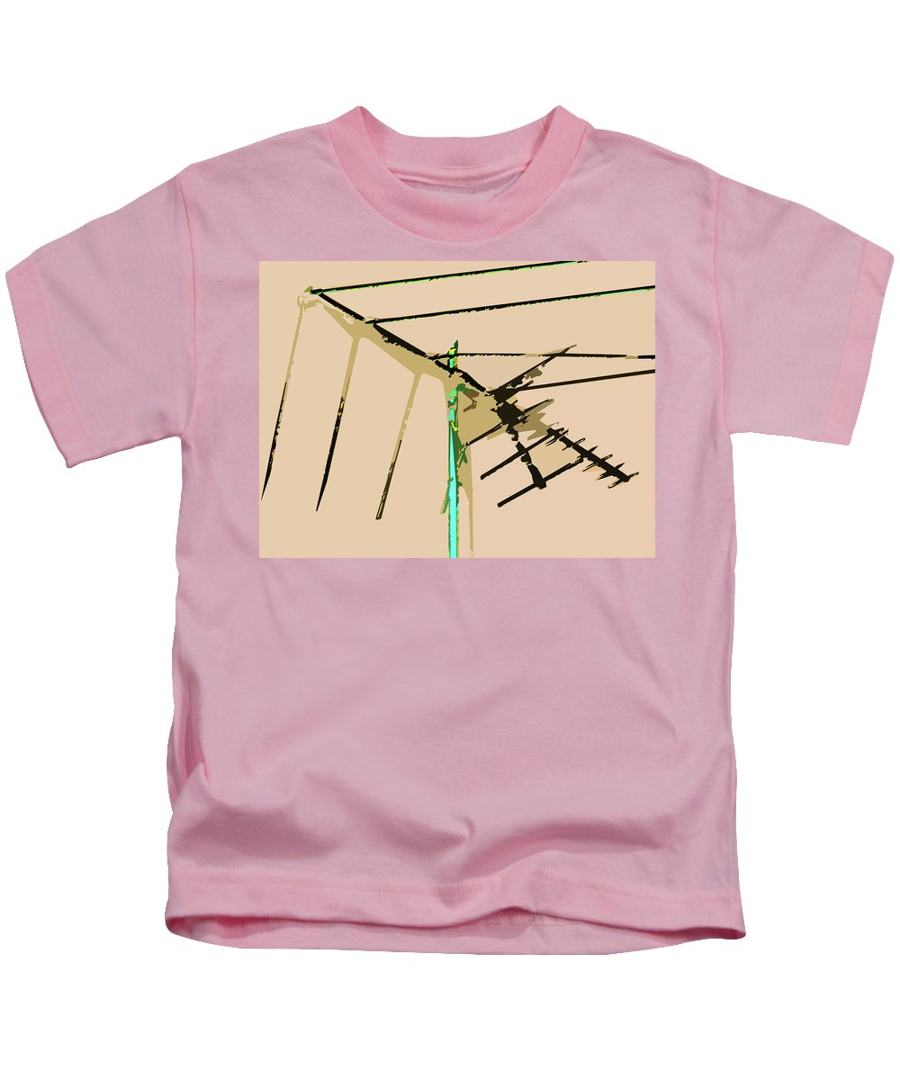 Abstract Kids T-Shirt featuring the digital art Bird Kite by Lenore Senior
