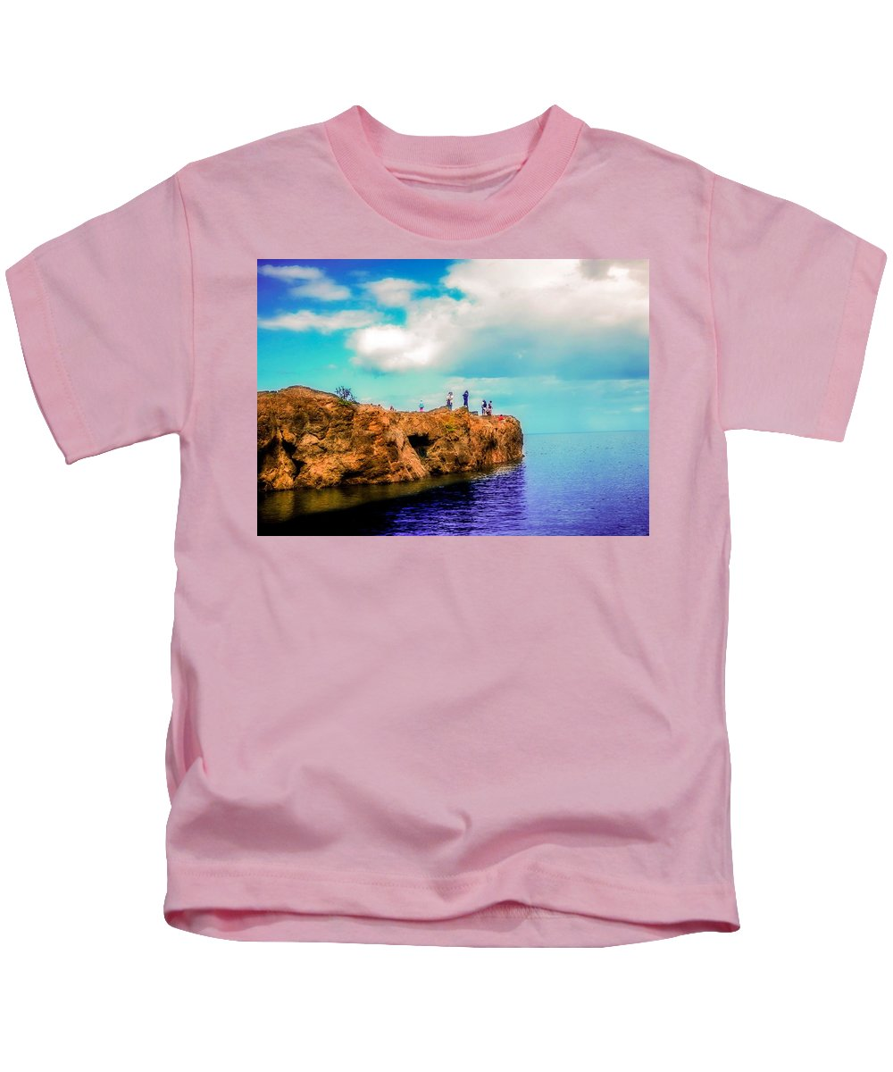Black Rocks Kids T-Shirt featuring the photograph Black Rocks In Summer by Kendall Tabor