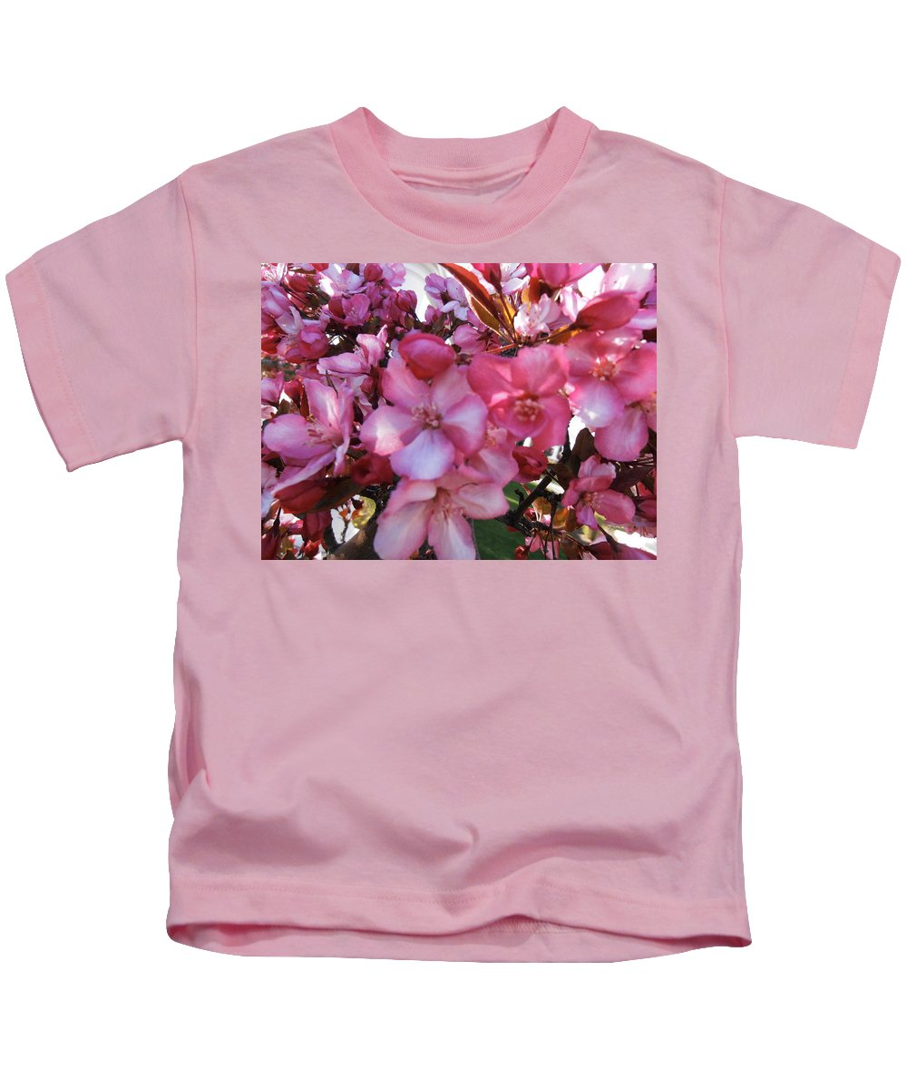 Blossoms Kids T-Shirt featuring the photograph Blossoming by Summer Ballantyne