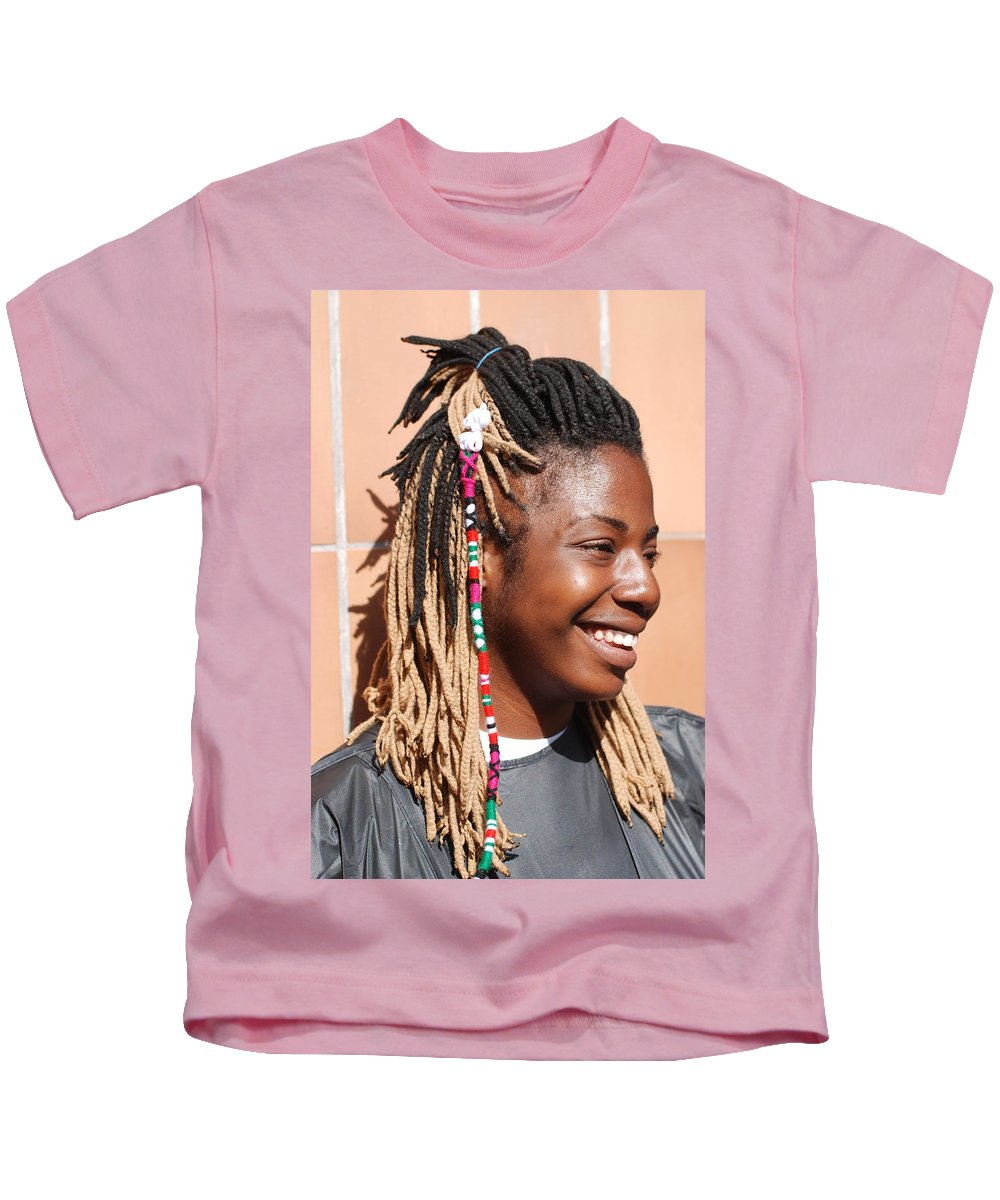 People Kids T-Shirt featuring the photograph Braided Lady by Rob Hans