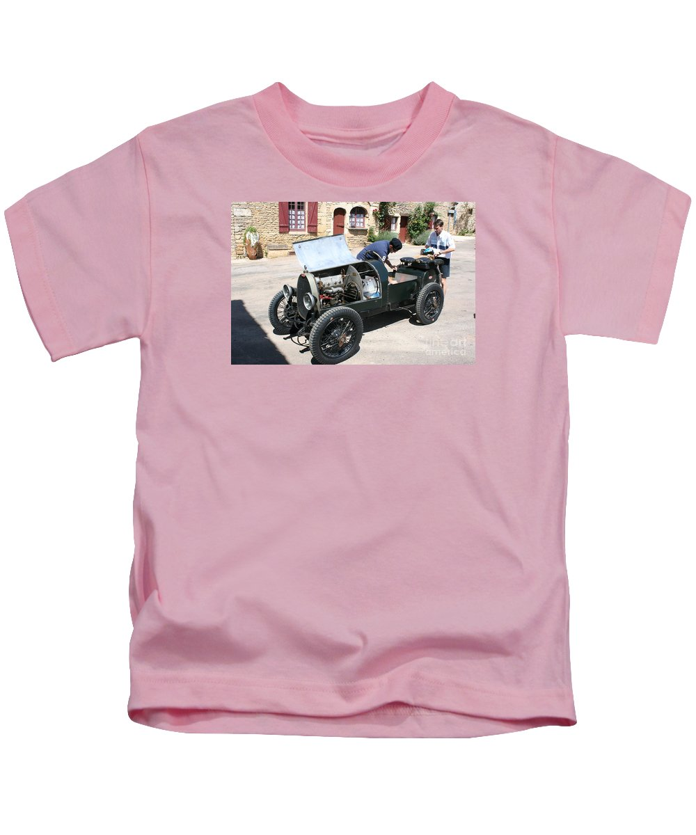 Oldtimer Kids T-Shirt featuring the photograph Bugatti Oldtimer by Christiane Schulze Art And Photography