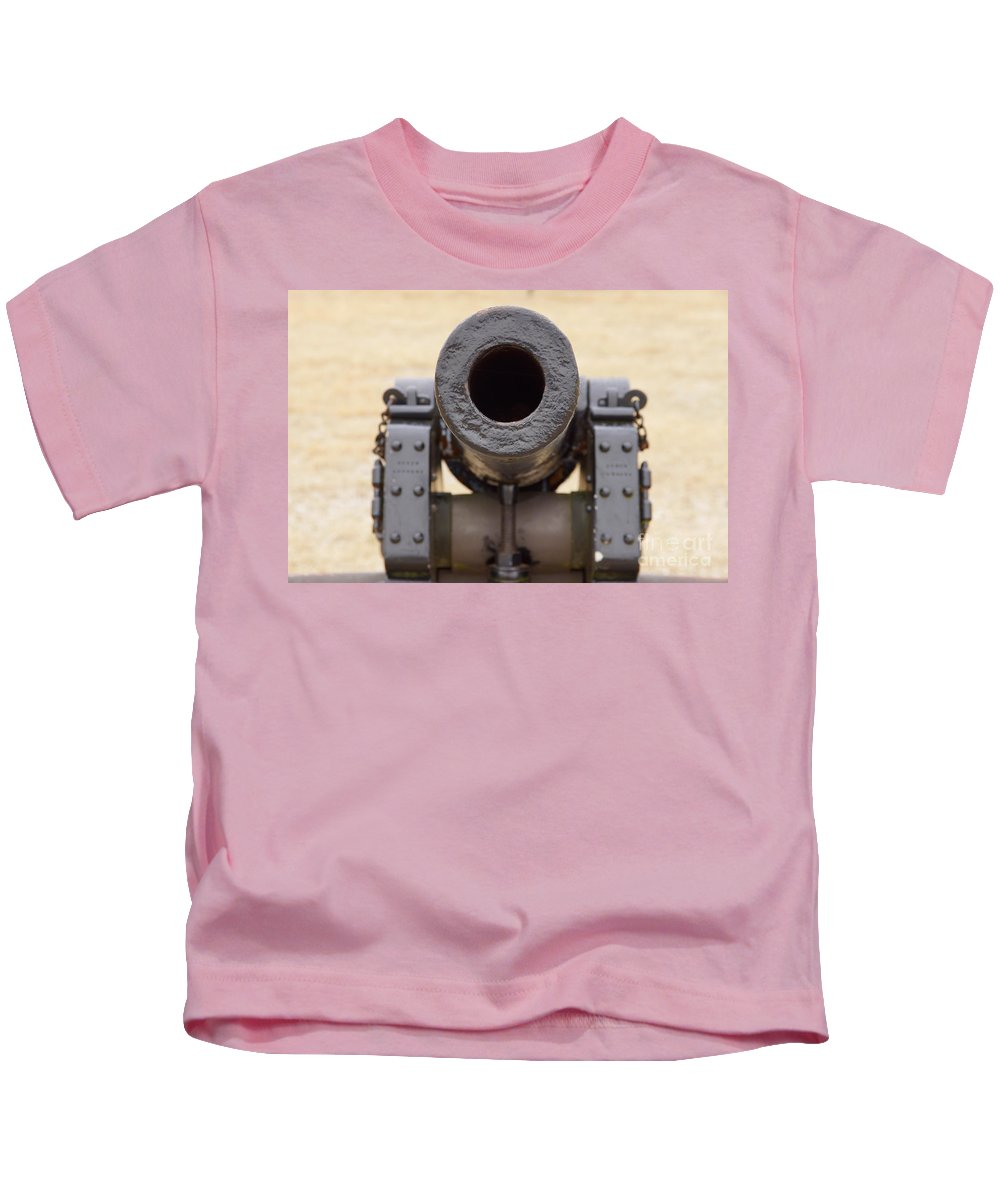 Canon Kids T-Shirt featuring the photograph Bull Run Looking Down Barrel Of Cannon by SAJE Photography