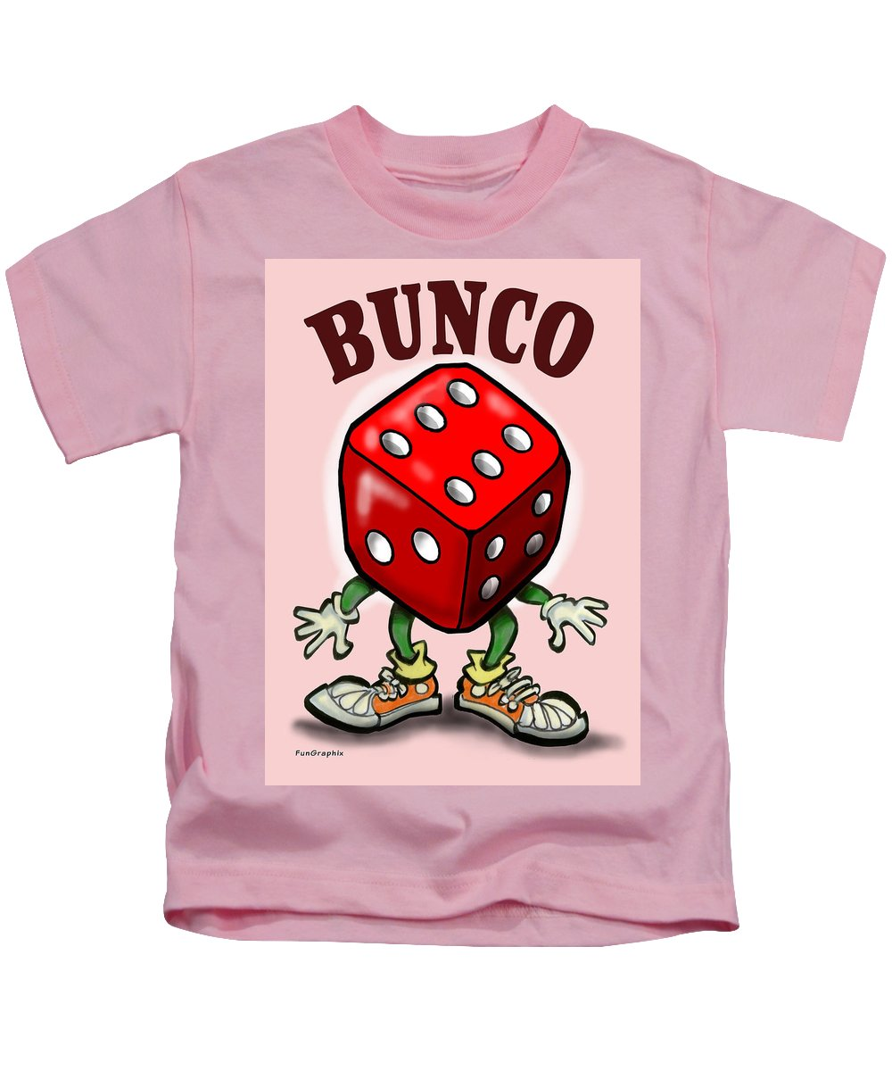Bunco Kids T-Shirt featuring the greeting card Bunco by Kevin Middleton