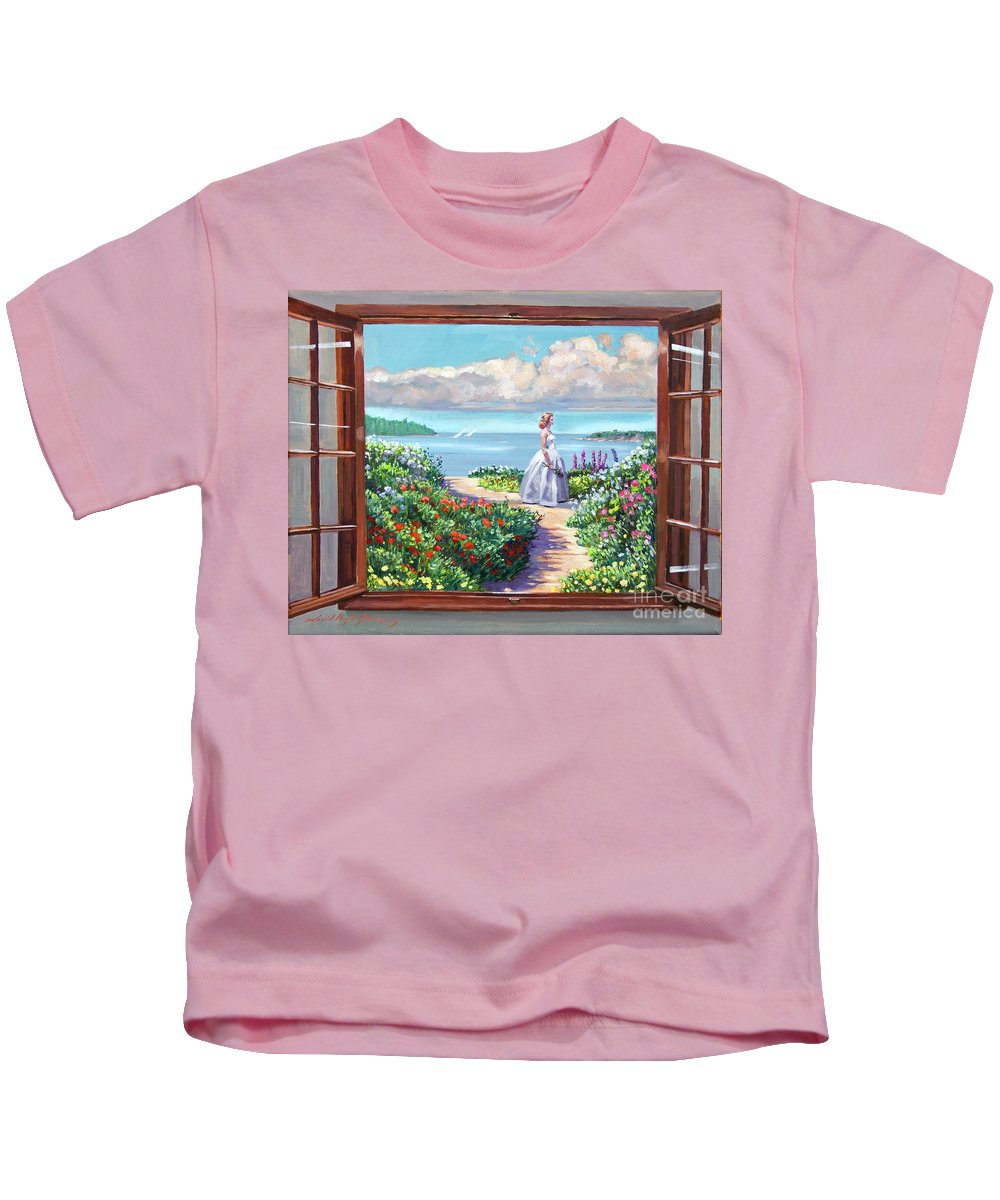 Fantasy Kids T-Shirt featuring the painting Cape Cod Beauty by David Lloyd Glover