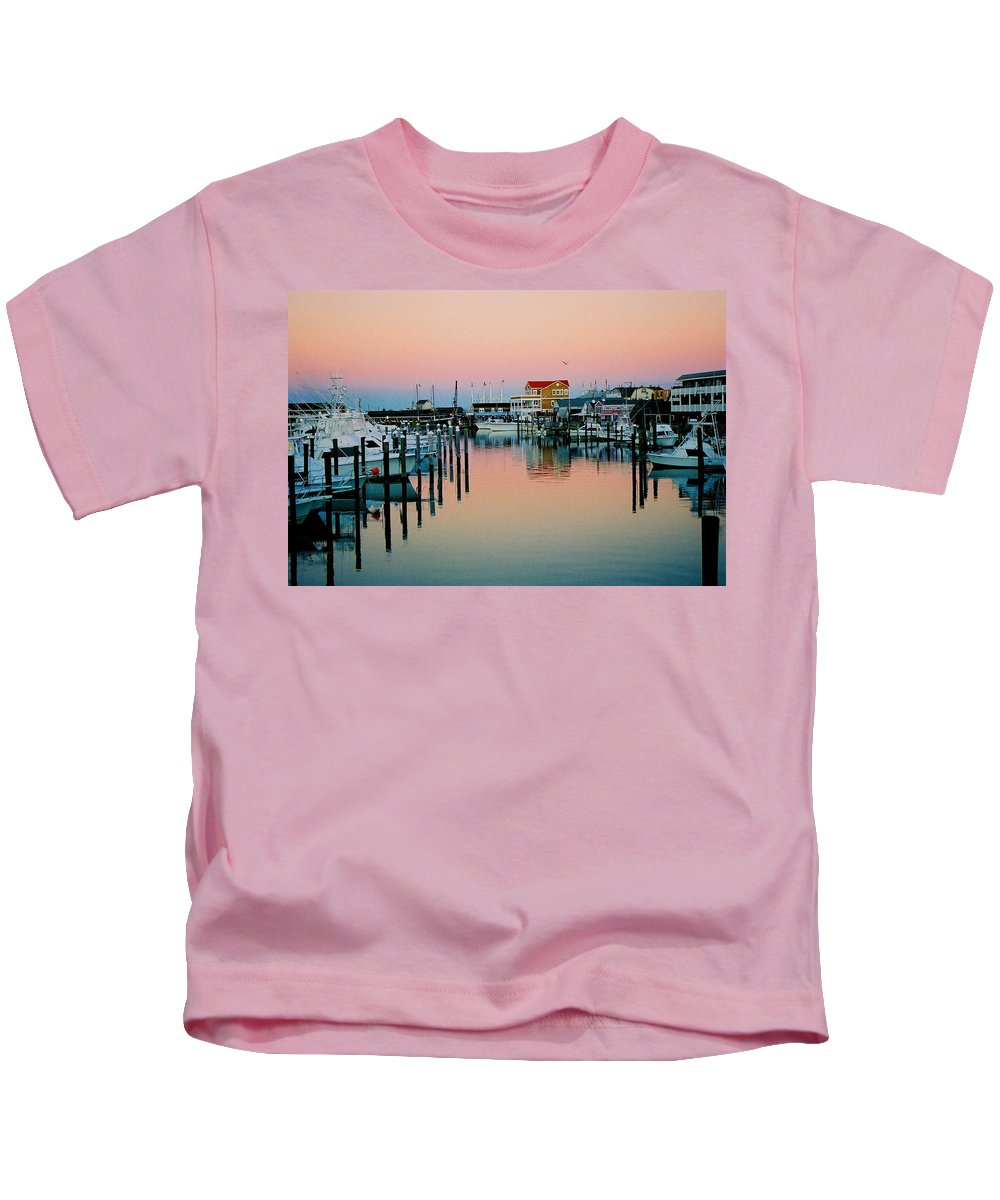 Cape May Kids T-Shirt featuring the photograph Cape May after Glow by Steve Karol