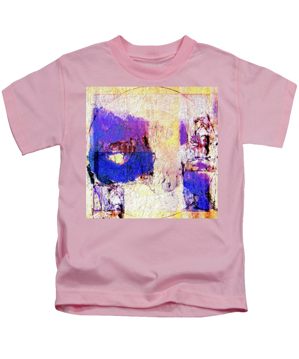 Abstract Kids T-Shirt featuring the painting Captiva by Dominic Piperata