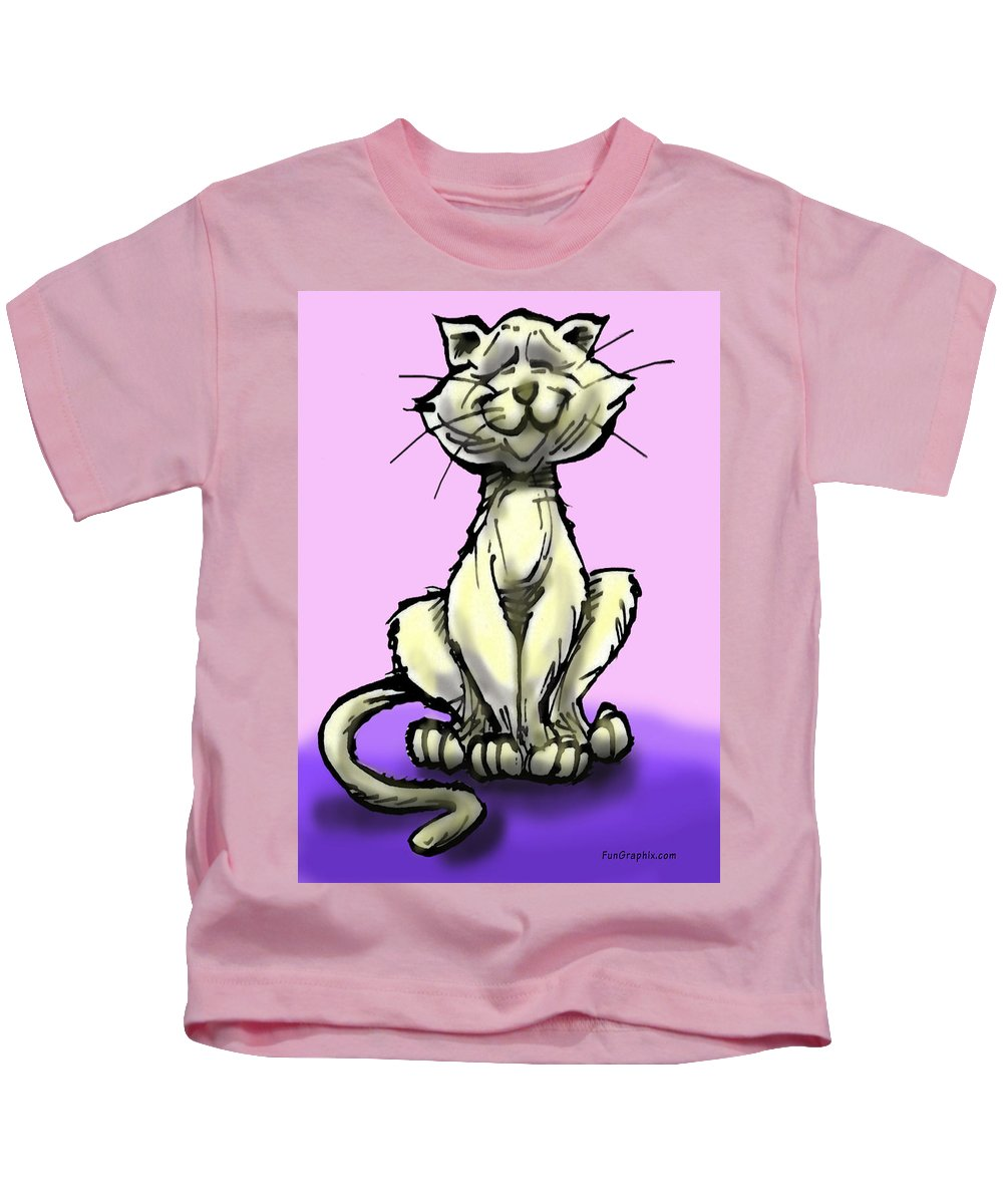 Cat Kids T-Shirt featuring the digital art Cat by Kevin Middleton