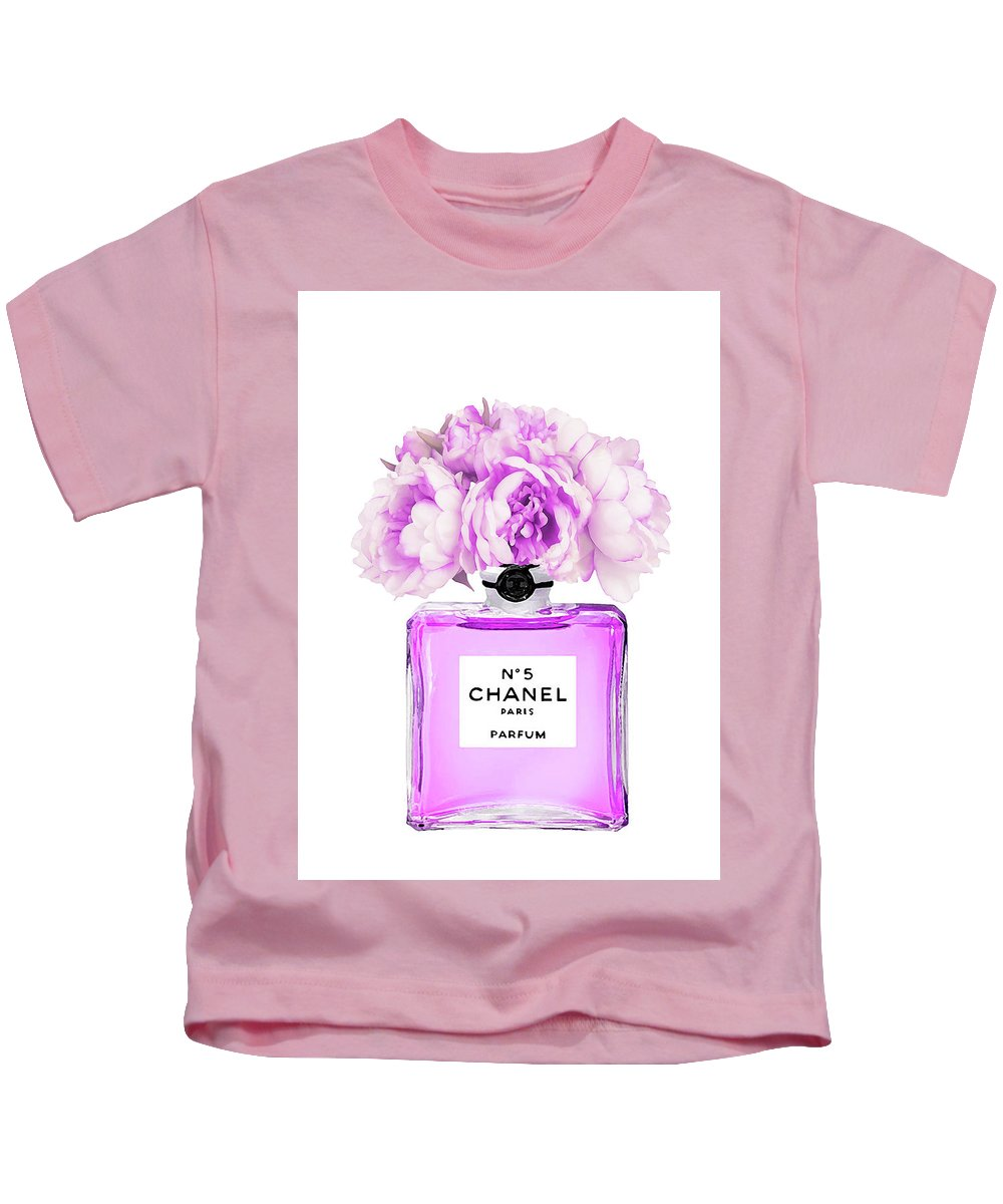 07eb2b2eb Chanel Perfume Art Kids T-Shirt featuring the painting Chanel Print Chanel  Poster Chanel Peony