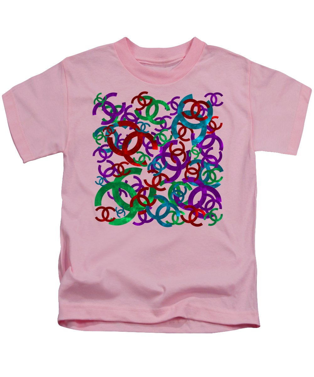 Chanel Kids T-Shirt featuring the painting Chanel Sign-6 by Nikita