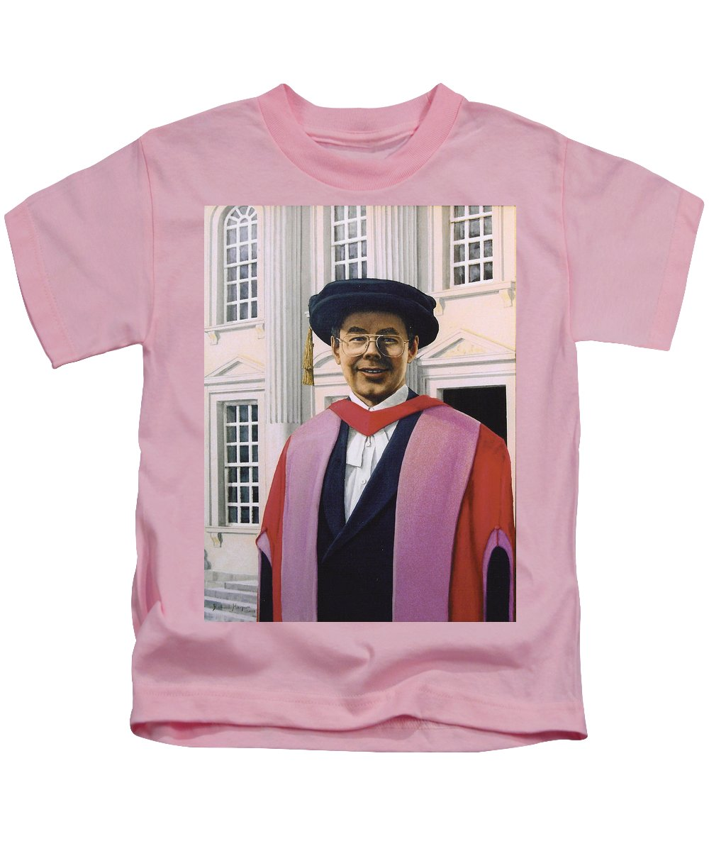 Portrait Kids T-Shirt featuring the painting Charles Harpum Receiving Doctorate Of Law by Richard Harpum
