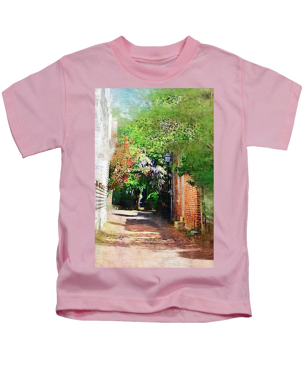 Alley Kids T-Shirt featuring the photograph Charlestons Alley by Donna Bentley
