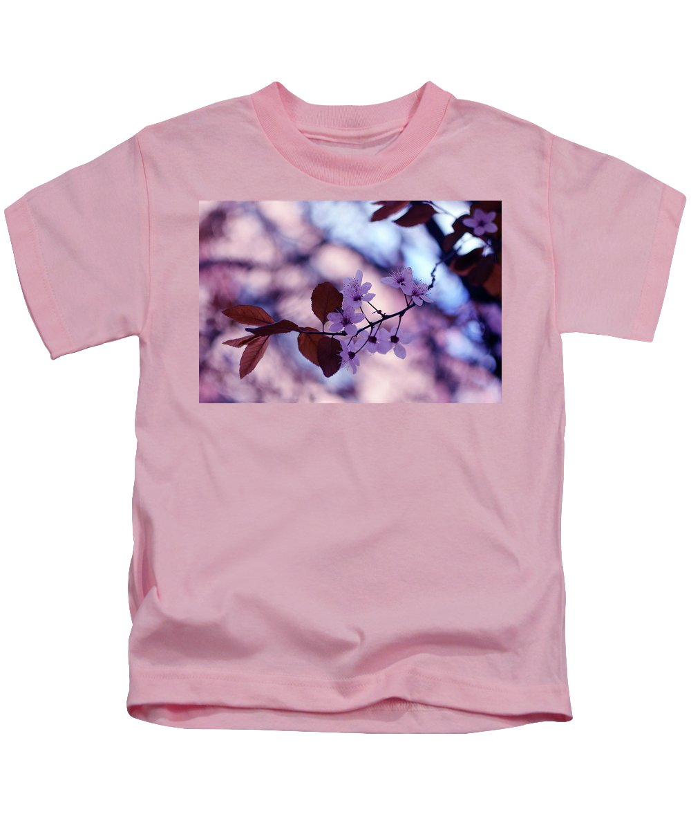 Cherry Kids T-Shirt featuring the photograph Cherry Blossoms by Alicia Fdez