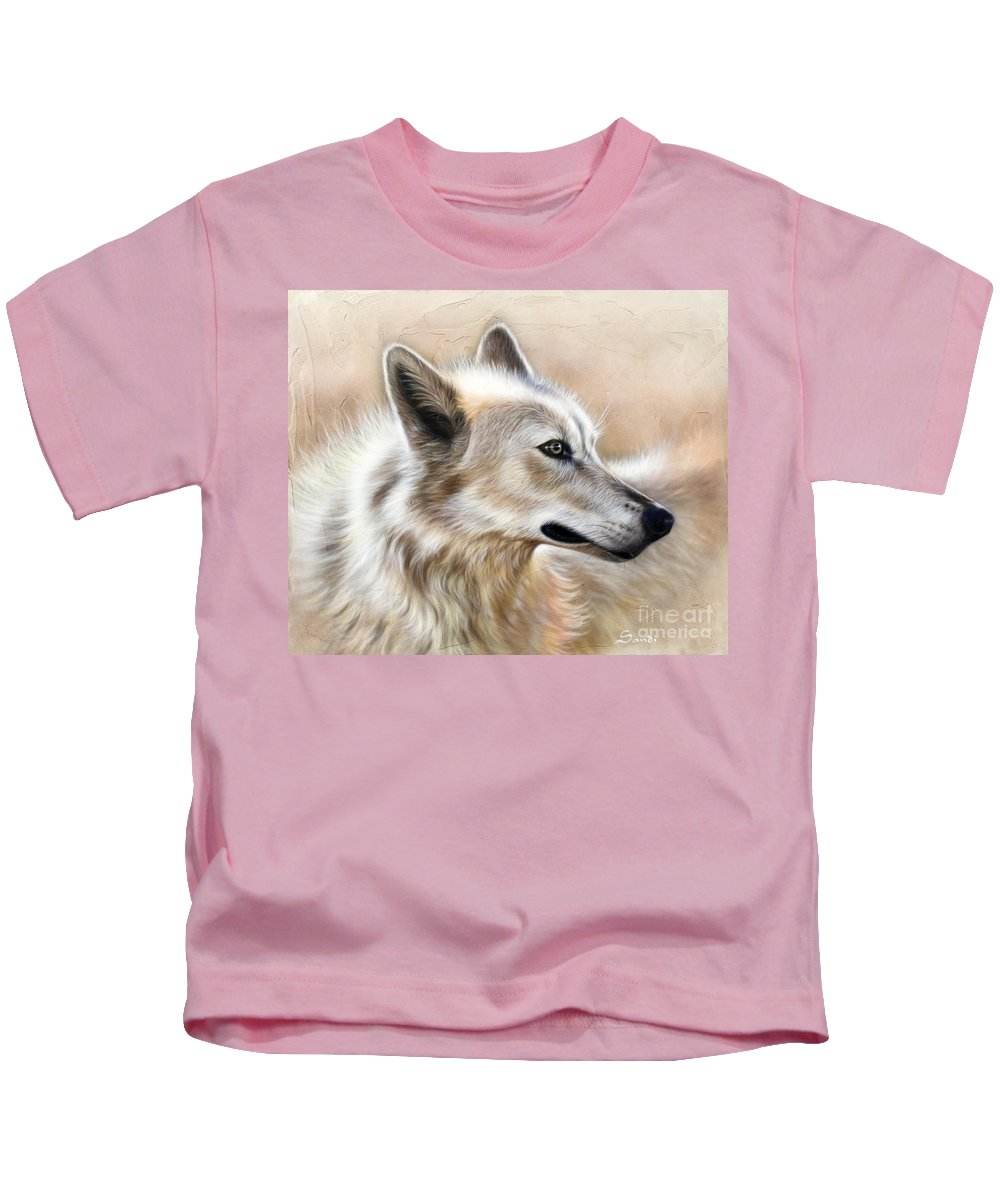 Acrylic Kids T-Shirt featuring the painting Cheyenne by Sandi Baker