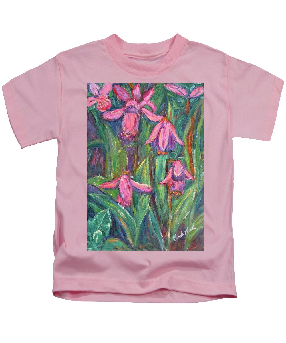 Floral Kids T-Shirt featuring the painting Chinese Orchids by Kendall Kessler
