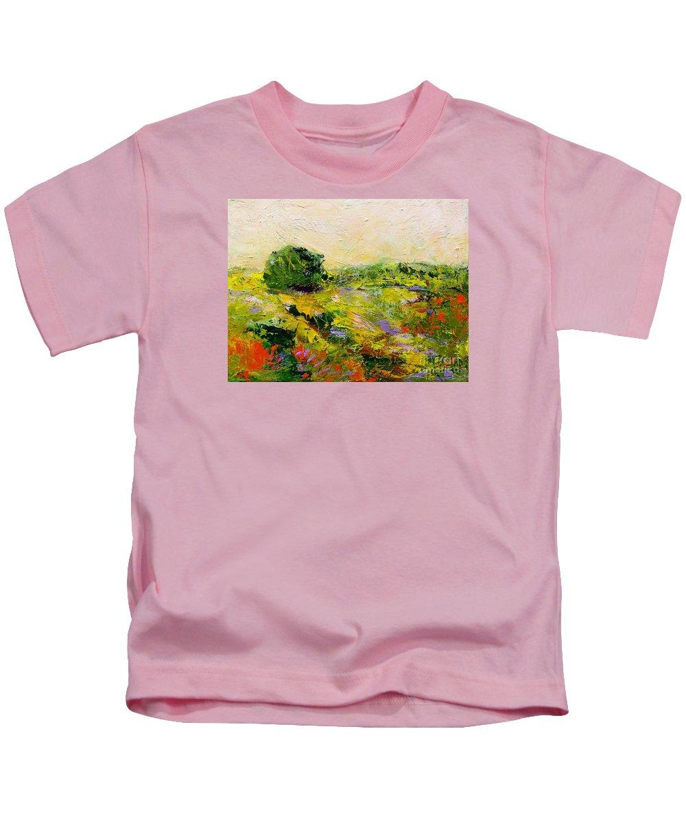 Landscape Kids T-Shirt featuring the painting Chippenham by Allan P Friedlander