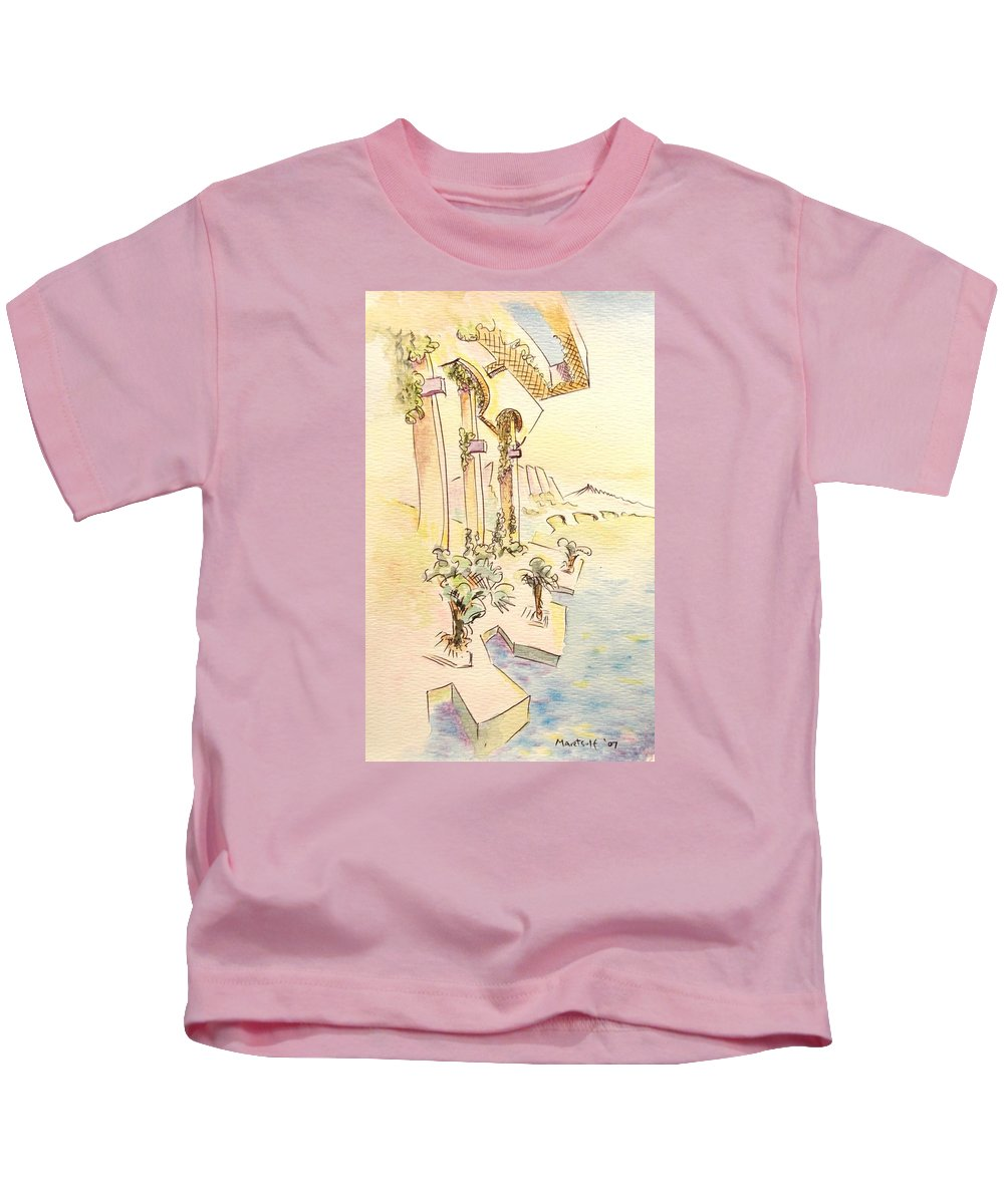 Italian Kids T-Shirt featuring the painting Classic Summer Morning by Dave Martsolf