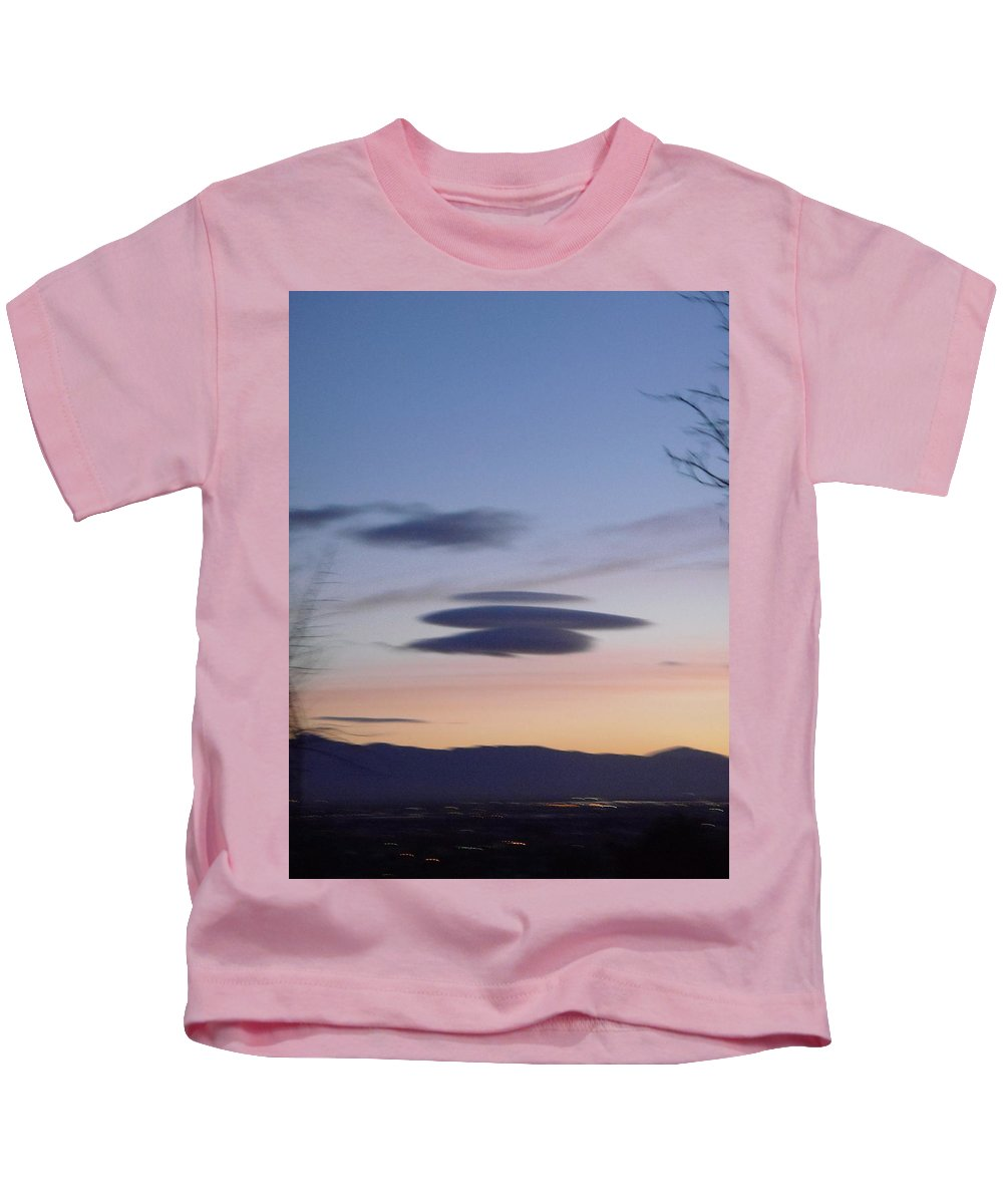 Clouds Kids T-Shirt featuring the photograph Clouds 2 by Stephanie Moore