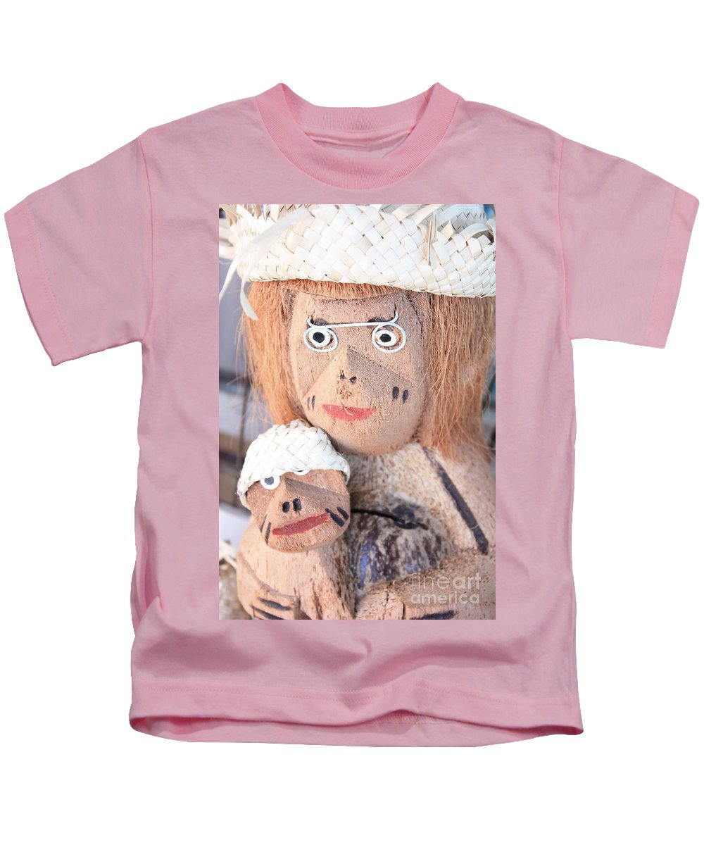 Coconuts Kids T-Shirt featuring the photograph Coconut Family by Carol Groenen