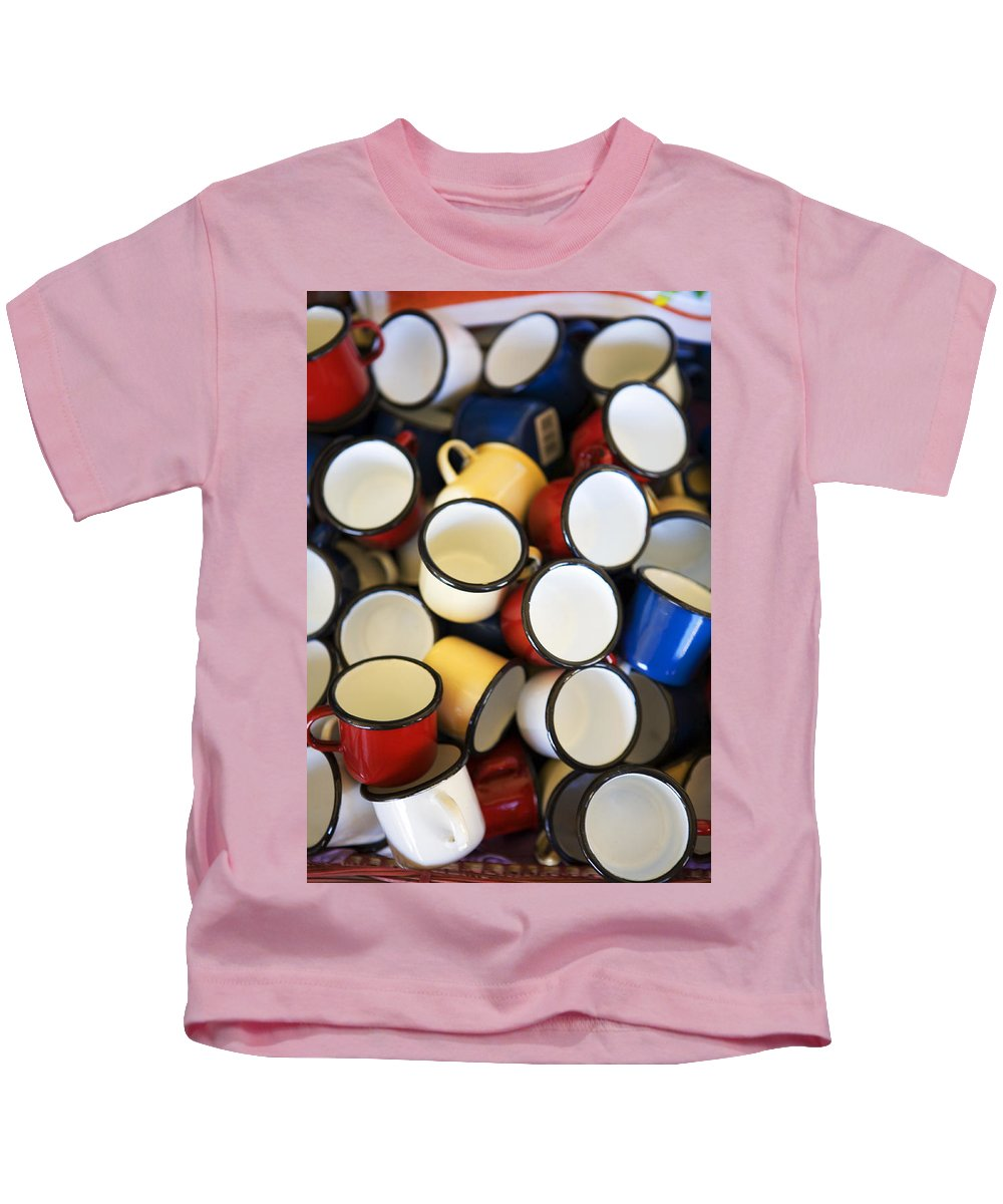 Coffee Kids T-Shirt featuring the photograph Coffee Cups by Marilyn Hunt