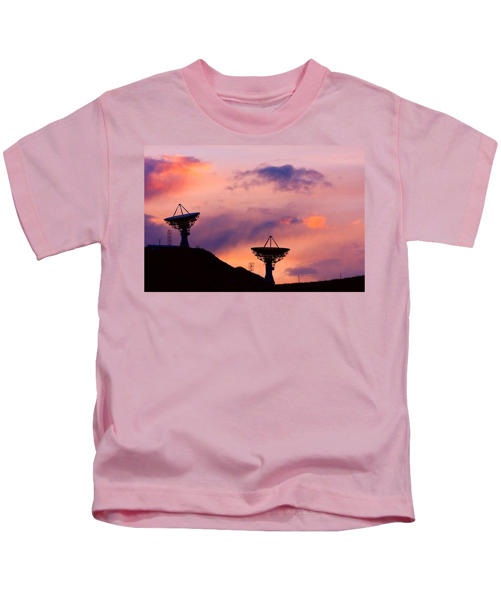 Antenna Kids T-Shirt featuring the photograph Communication Sunset by James BO Insogna