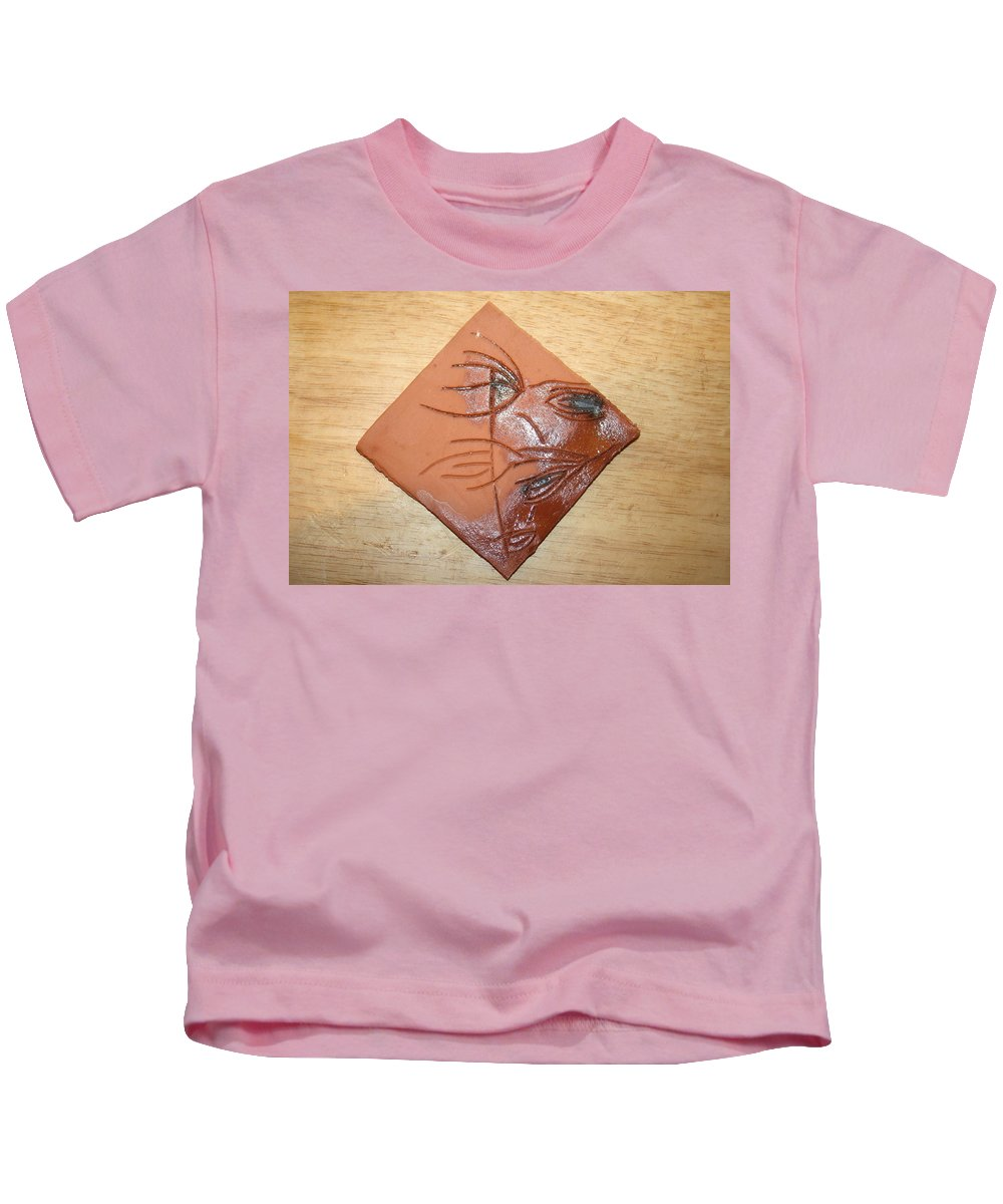 Jesus Kids T-Shirt featuring the ceramic art Communion - Tile by Gloria Ssali