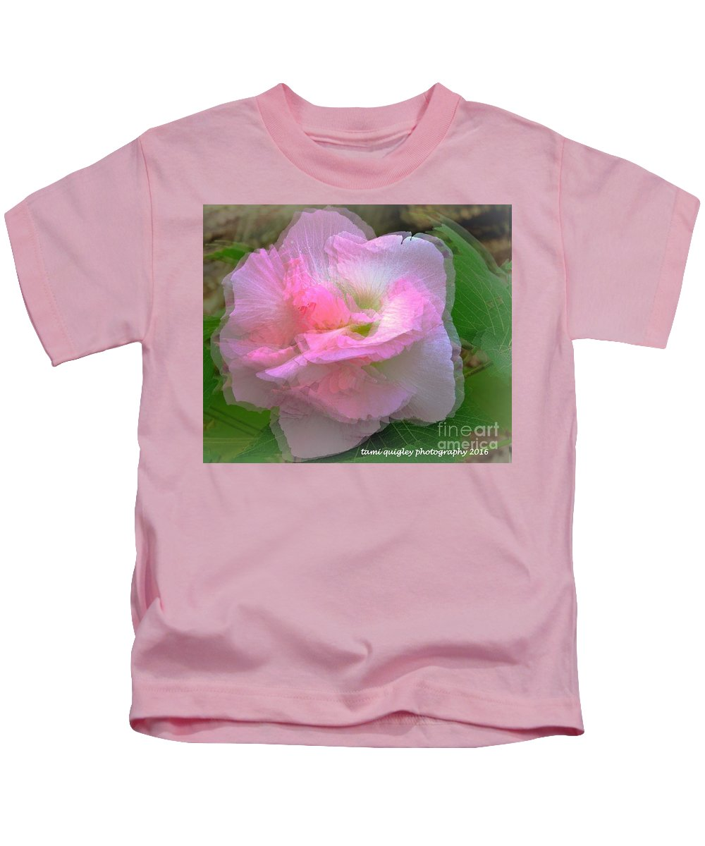 Confederate Rose Kids T-Shirt featuring the photograph Confederate Rose by Tami Quigley