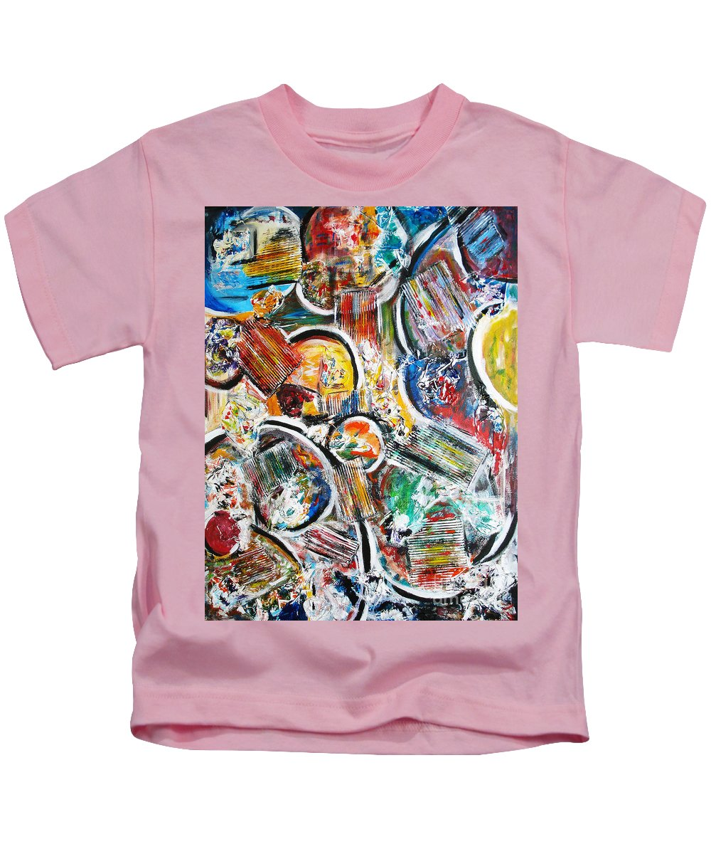 Acrylic Painting Kids T-Shirt featuring the painting Connection by Yael VanGruber