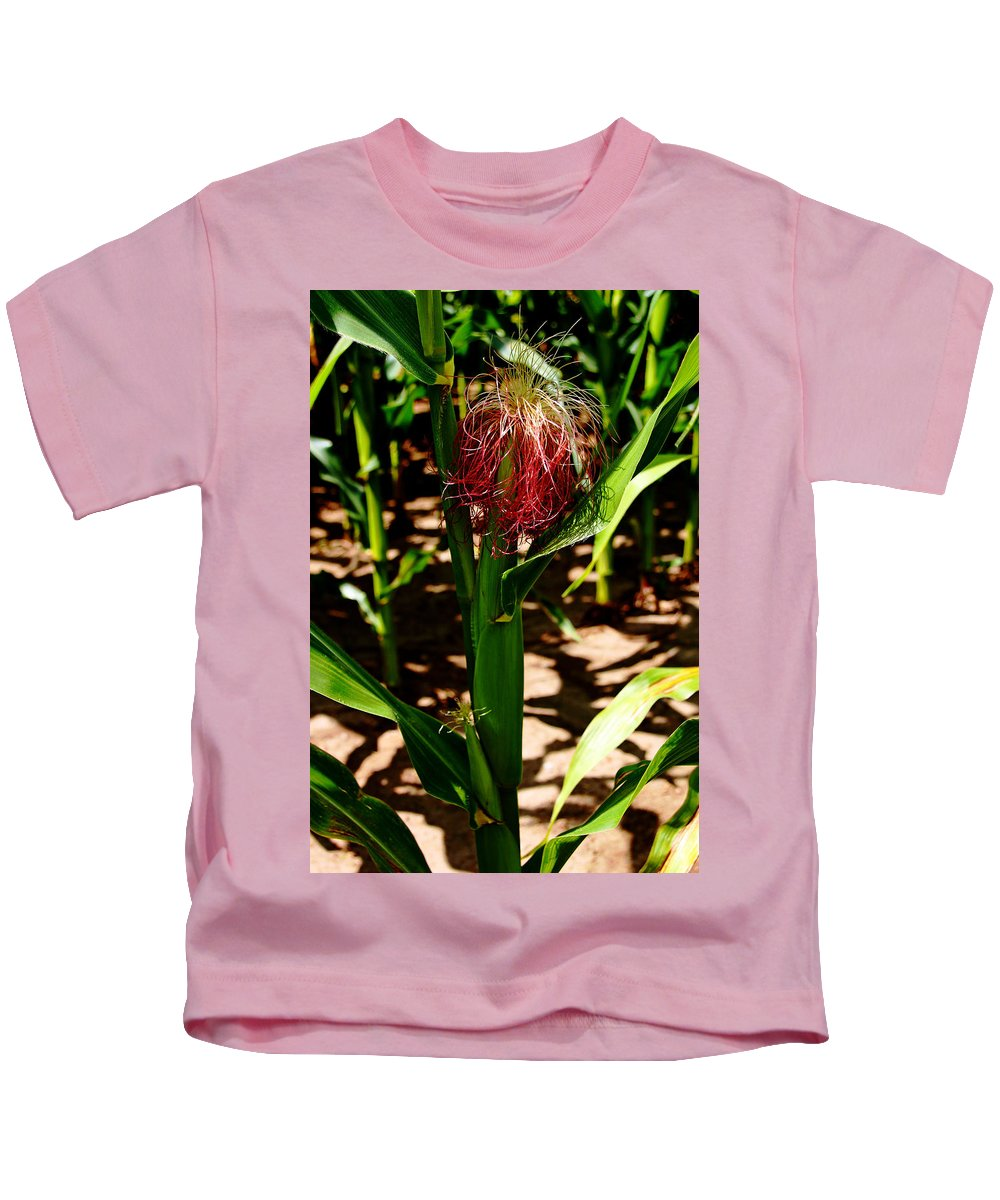 Corn Kids T-Shirt featuring the photograph Corn On The Cob by Debbie Oppermann