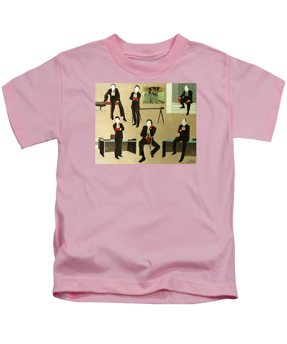 Blood Kids T-Shirt featuring the painting Corporate Image by Sharron Loree